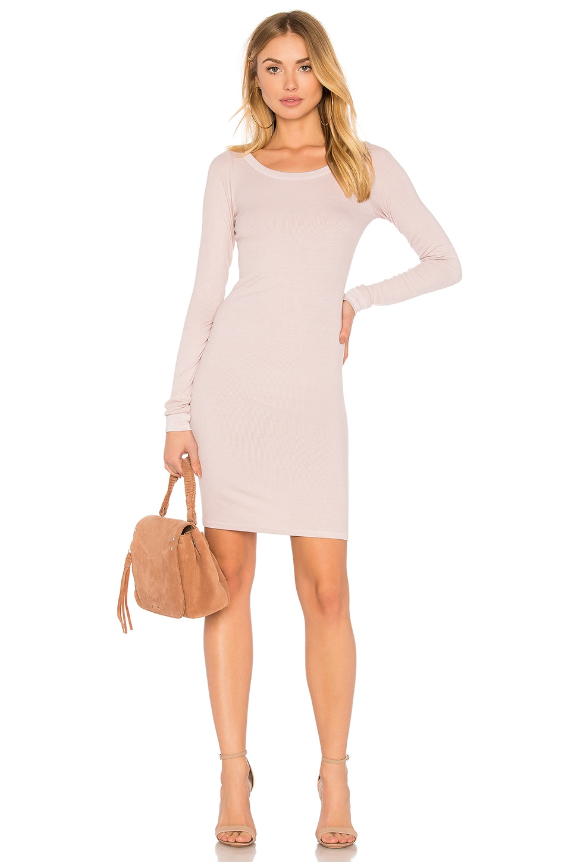 Rib Long Sleeve Dress by Enza Costa