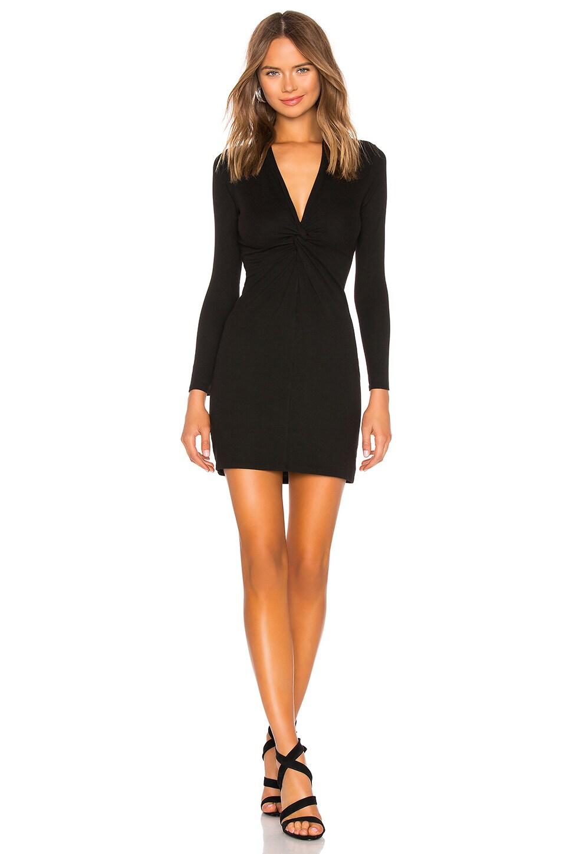 Enza Costa Rib Twisted Mini Dress in Black