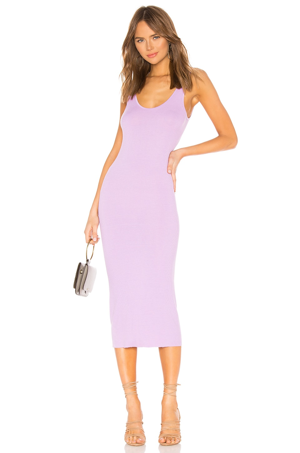 Enza Costa Rib Tank Dress in Aster