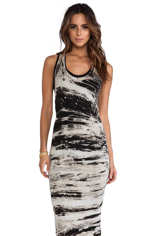 Enza Costa Costae Dye Jersey Dress in Black Costae