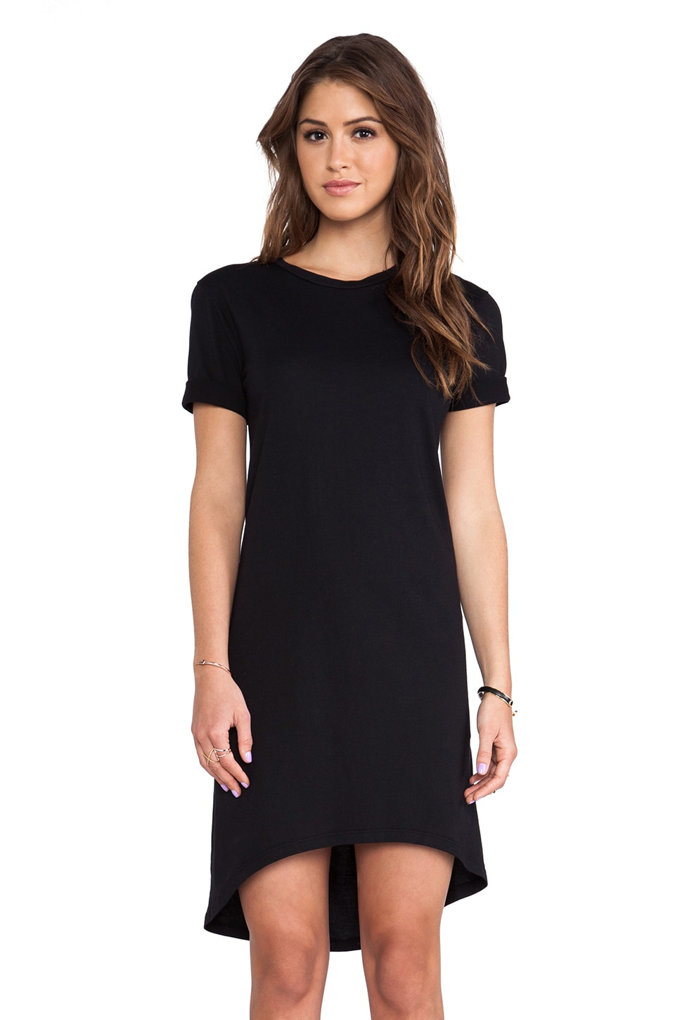 Enza Costa Hi Low Dress in Black
