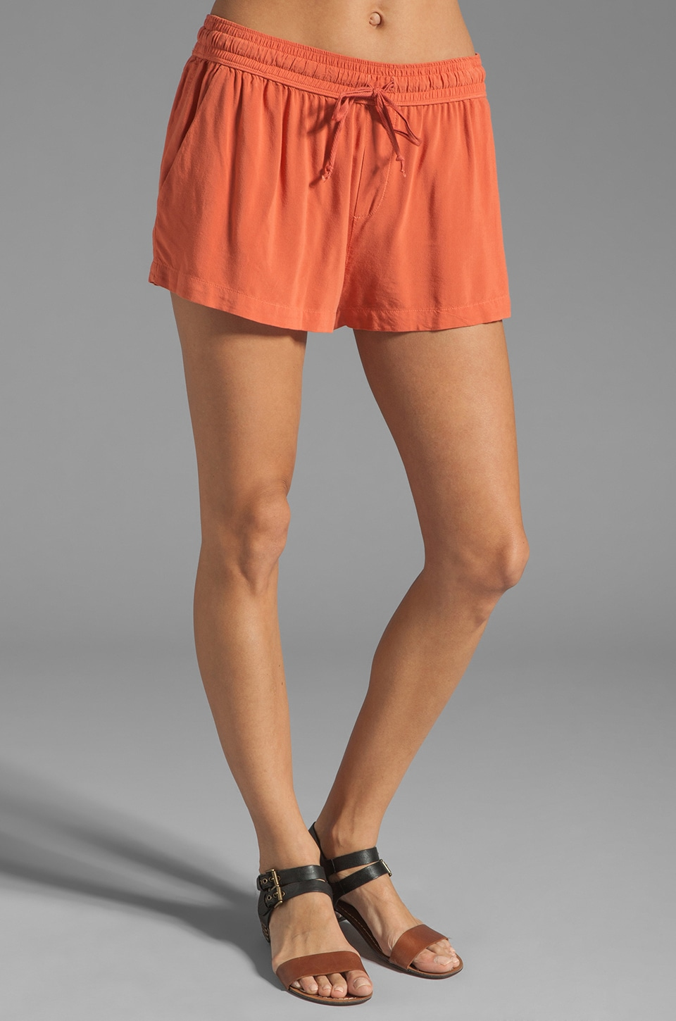 Enza Costa Challis Short in Muted Coral