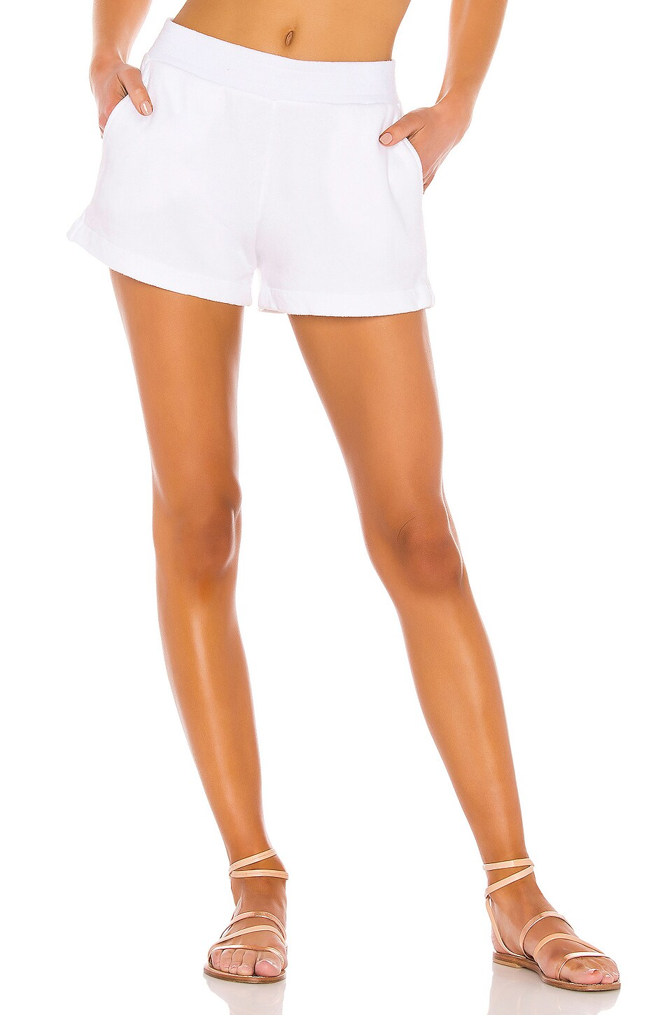 Enza Costa French Terry Short in White