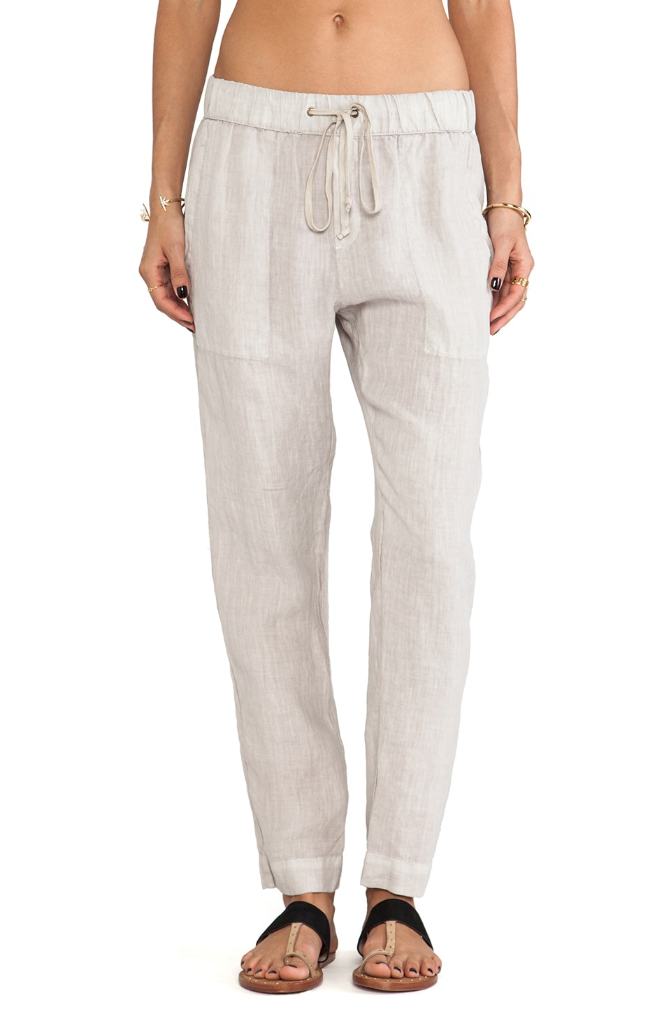 Enza Costa Linen Pant in Ashen