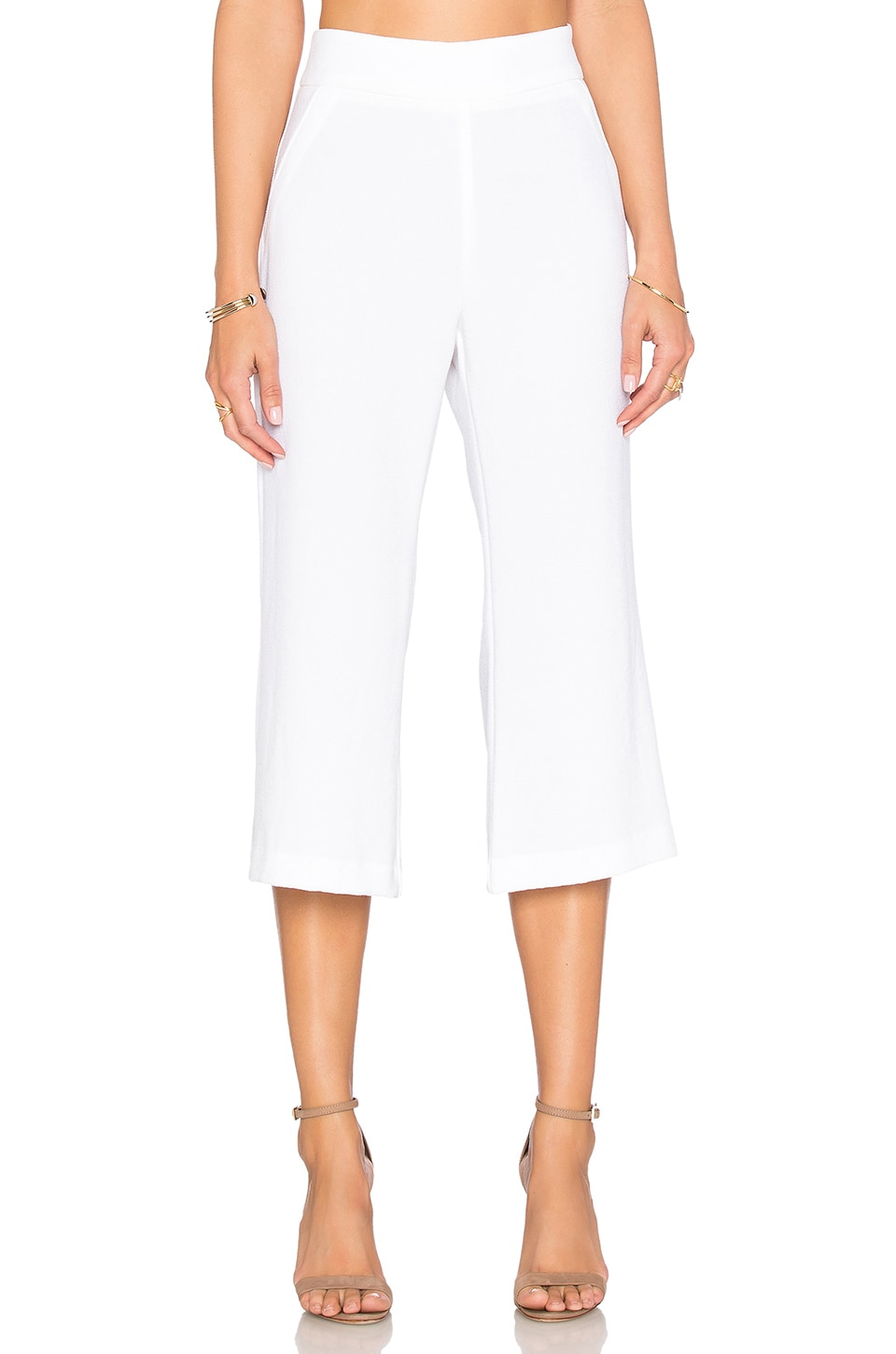 Enza Costa Cropped Flare Trouser Pant in Cloud