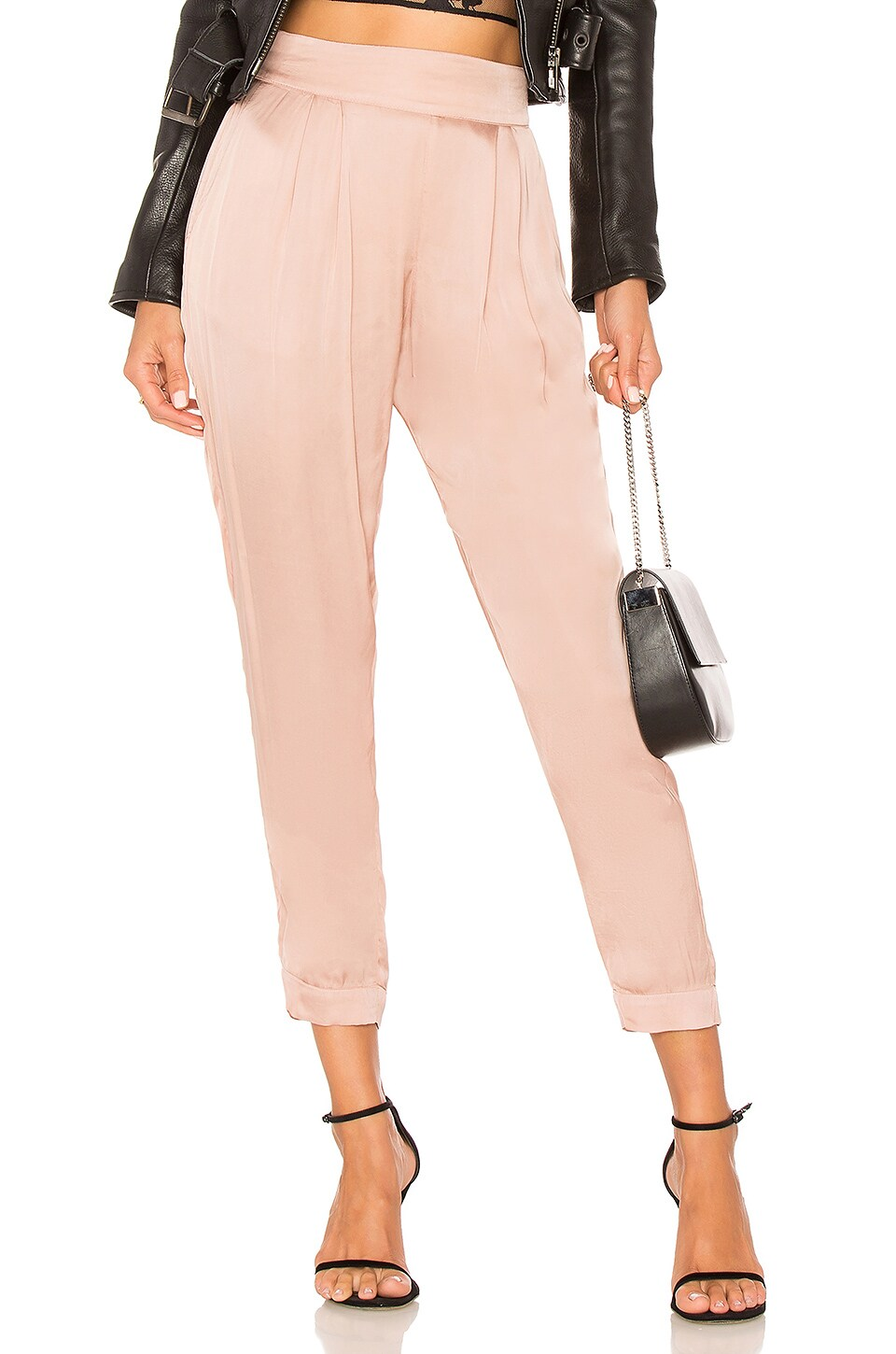 Pleated Jogger in Rose. - size 1 / S (also in 2 / M,3 / L) Enza Costa