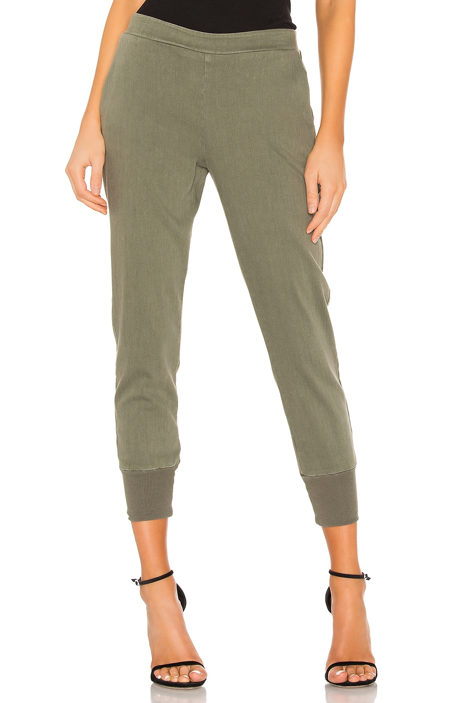 Enza Costa Cuffed Jogger in Washed Military