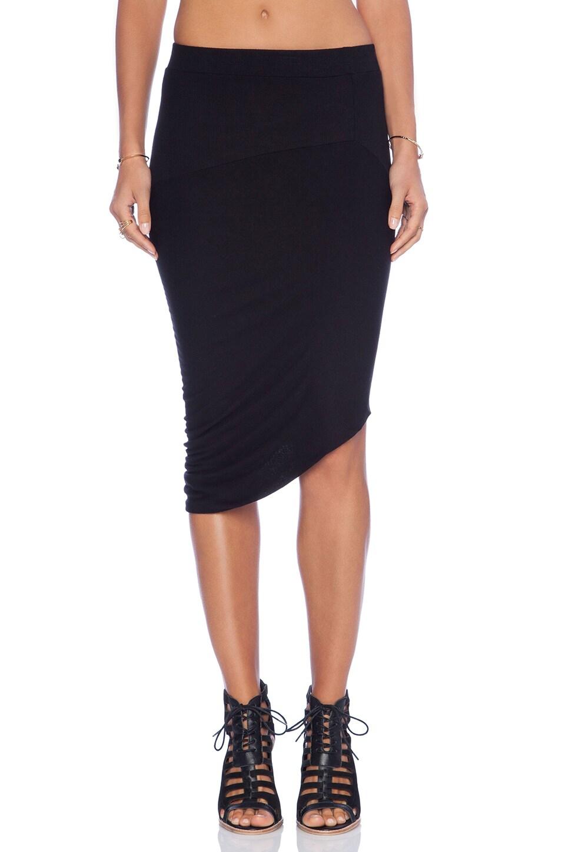 Enza Costa Drape Skirt in Black