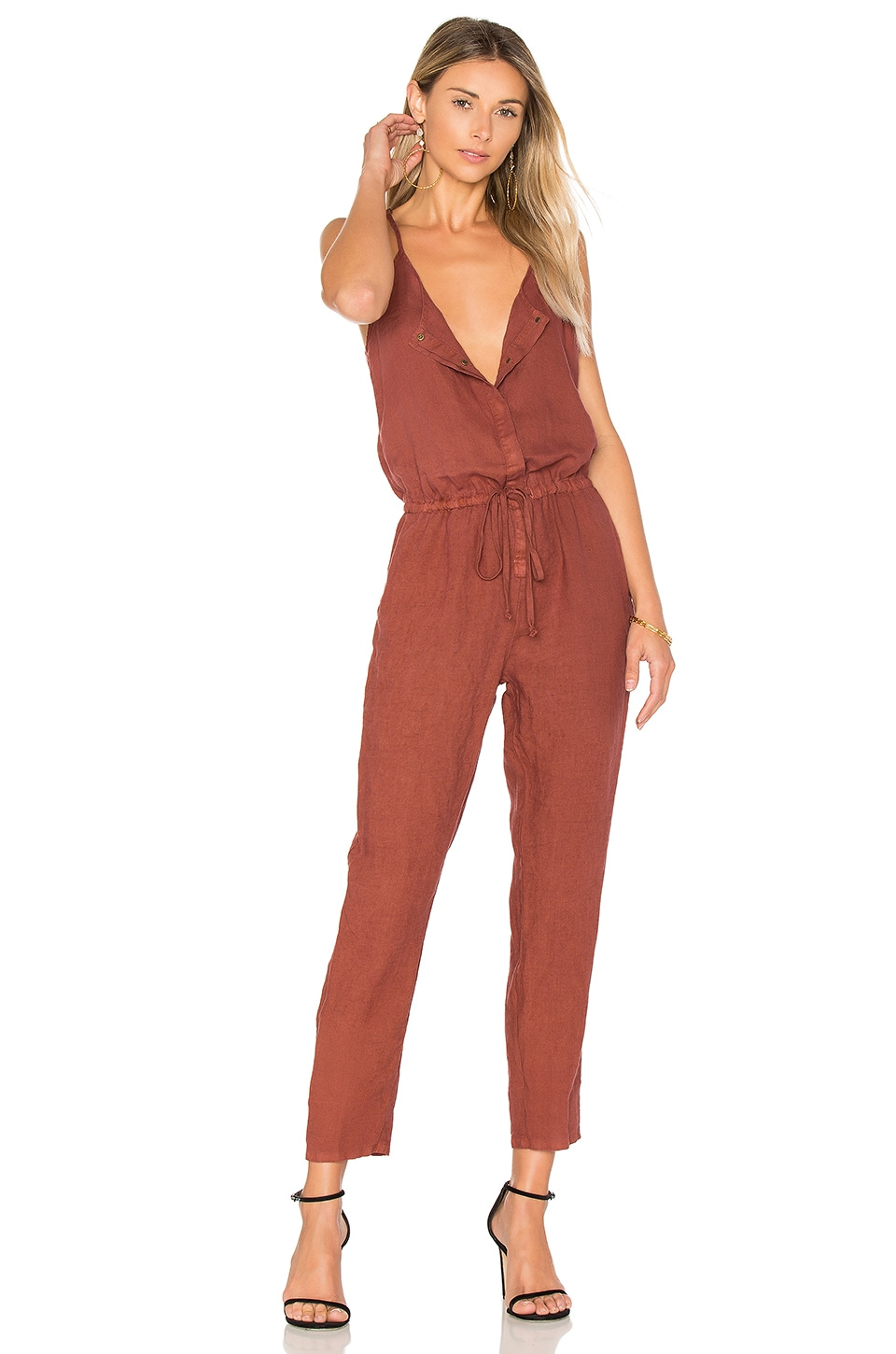 French Linen Jumpsuit by Enza Costa