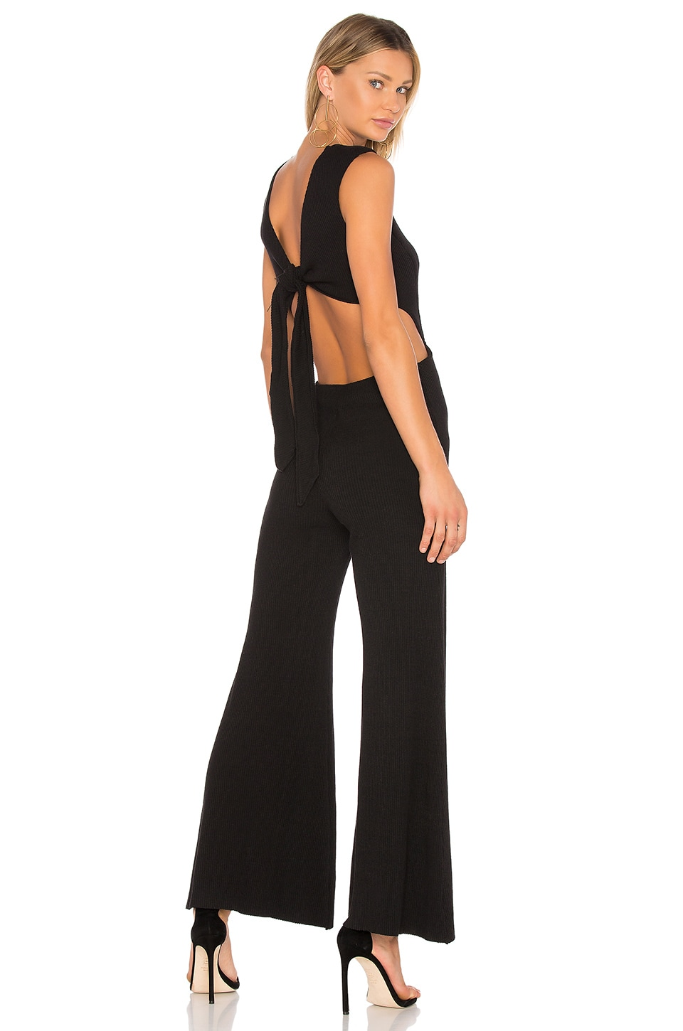 Rib Wrap Tie Jumpsuit by Enza Costa