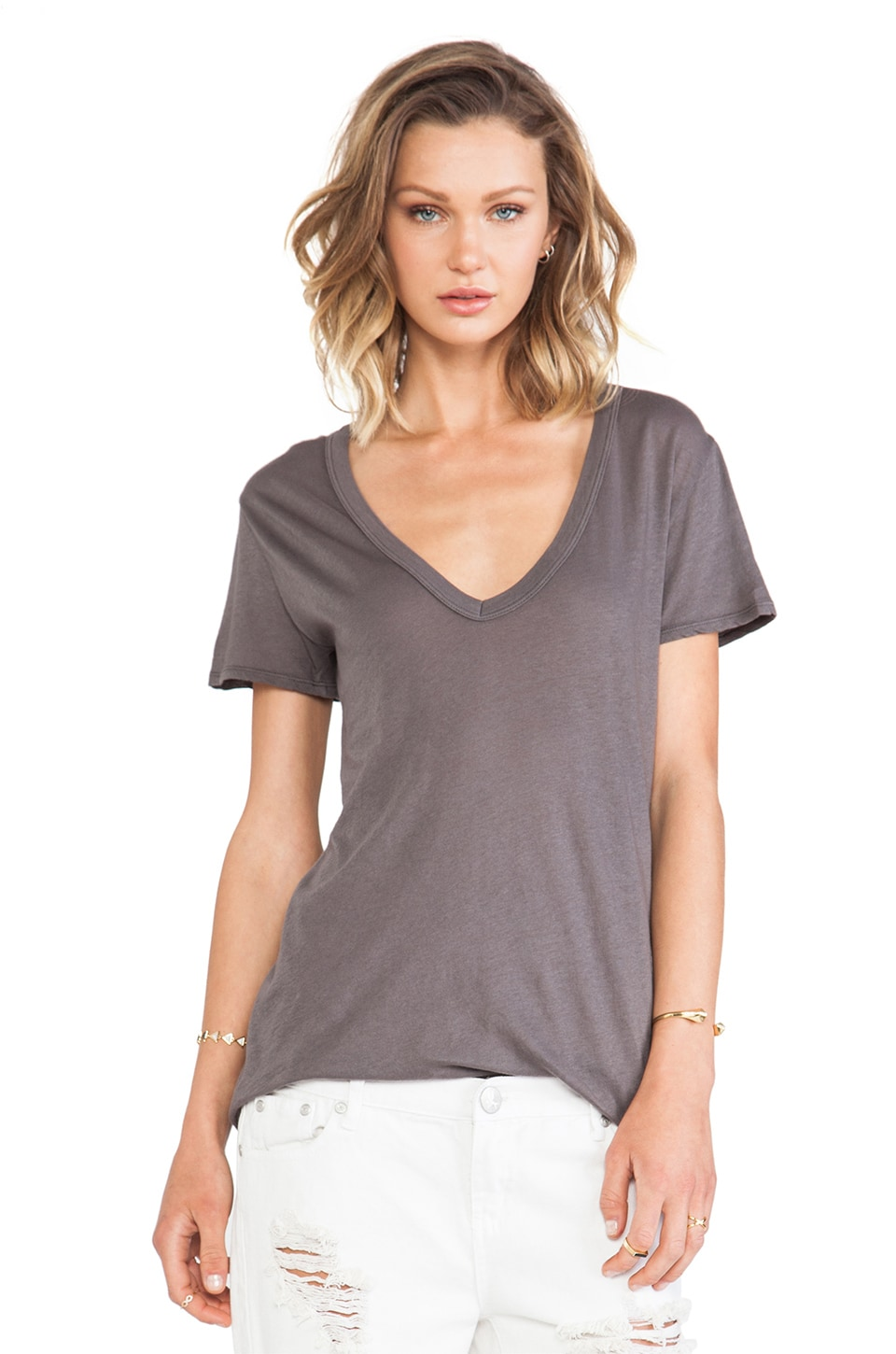 Enza Costa Tissue Jersey Loose Short Sleeve in Eiffel