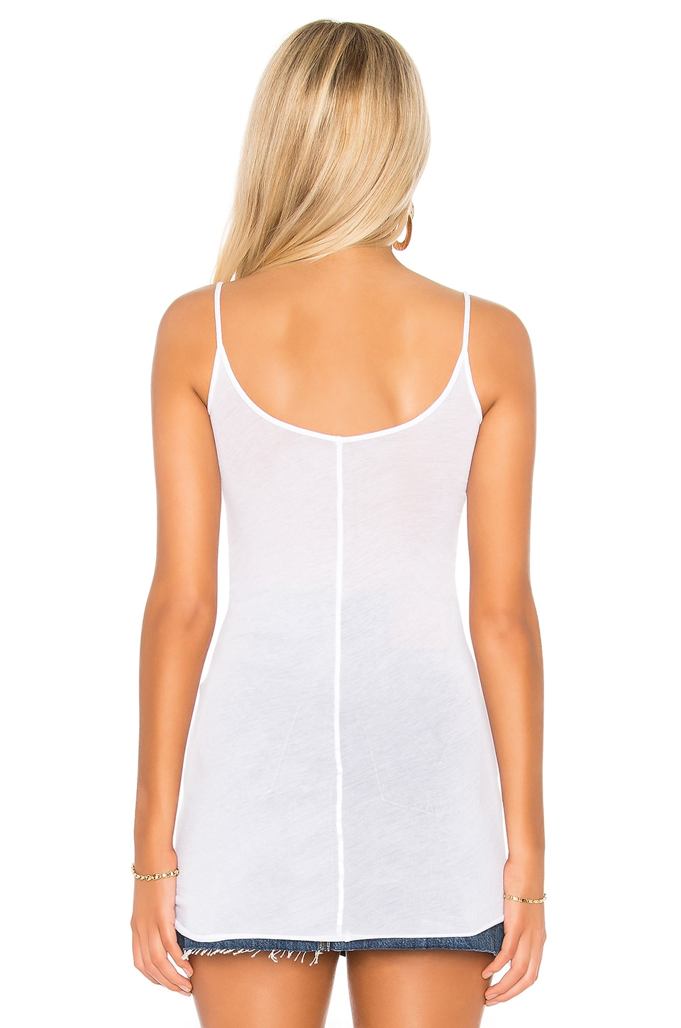 Enza Costa Tunic Layer Tank in White