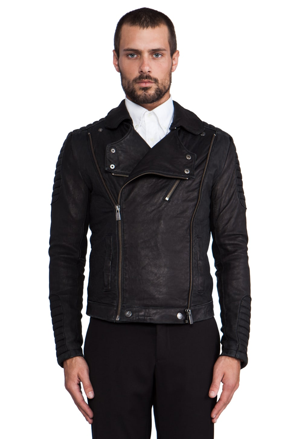 Eleven Paris Leather Jacket in Black