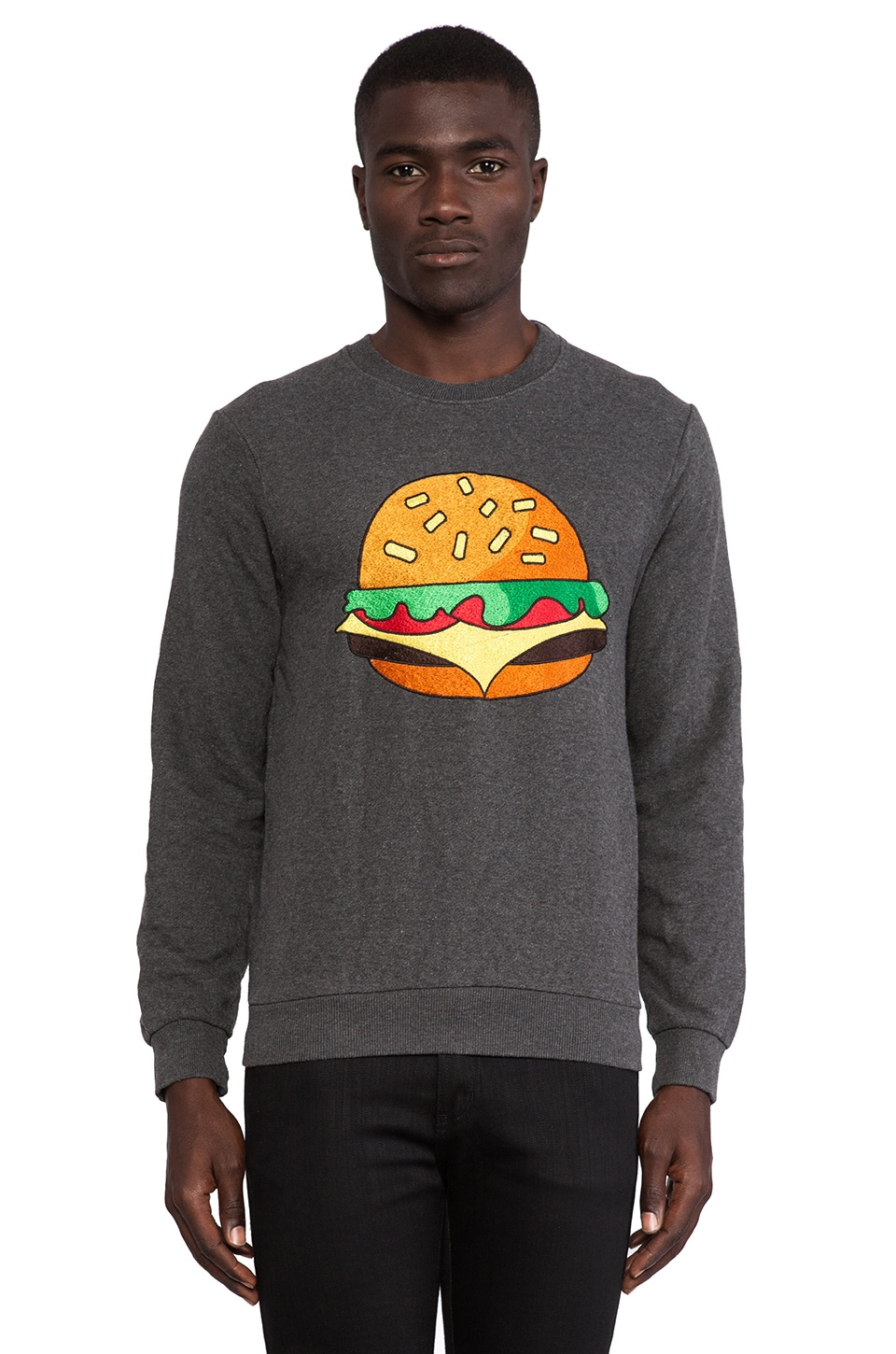 Eleven Paris Sastfood Sweatshirt in Dark Grey