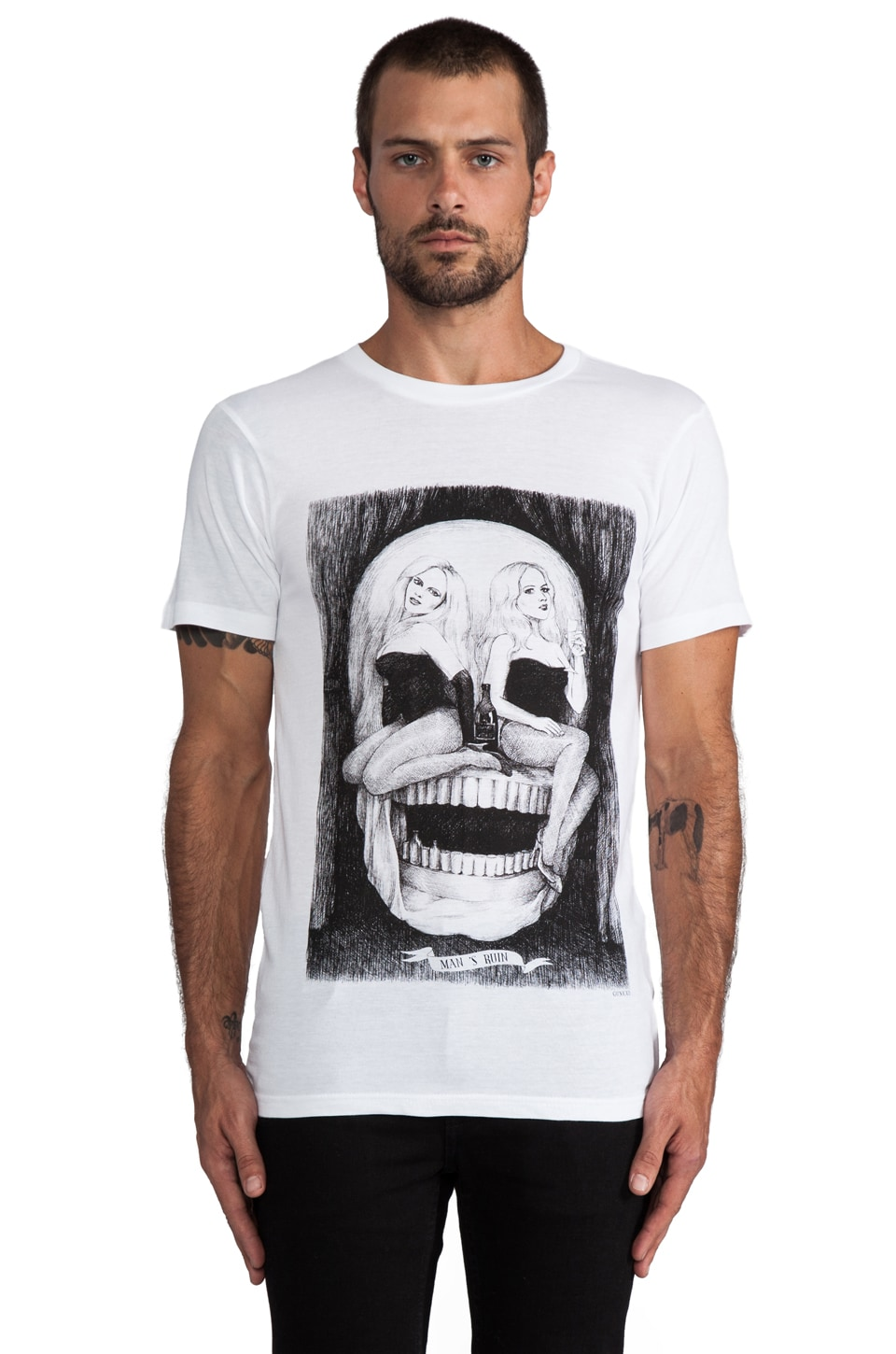 Eleven Paris Mansruin Graphic Tee in White