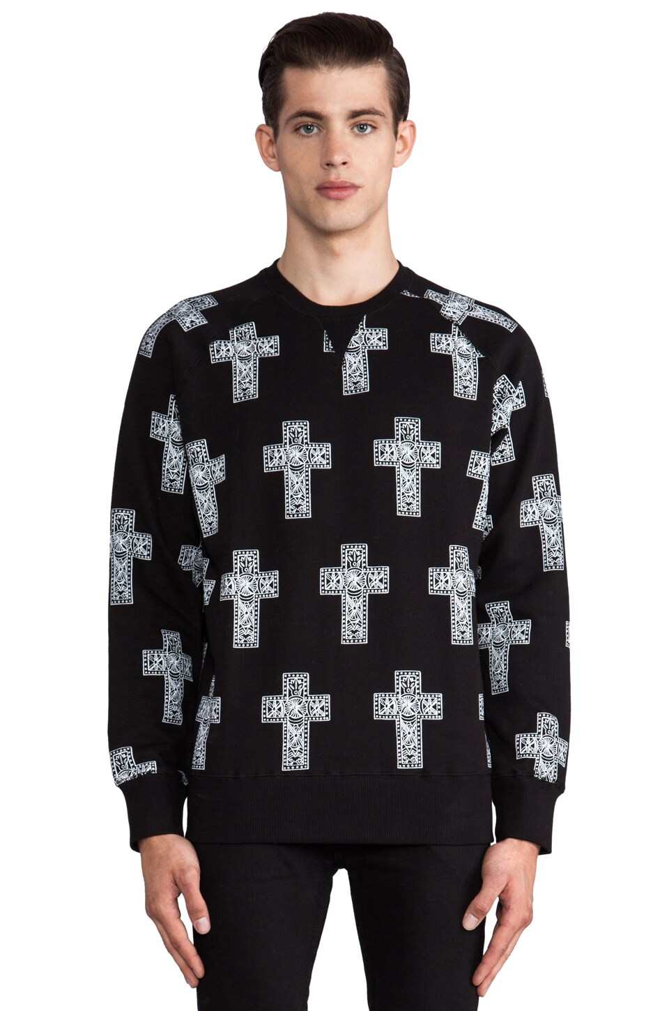 Eleven Paris Valoir Graphic Sweatshirt in Black