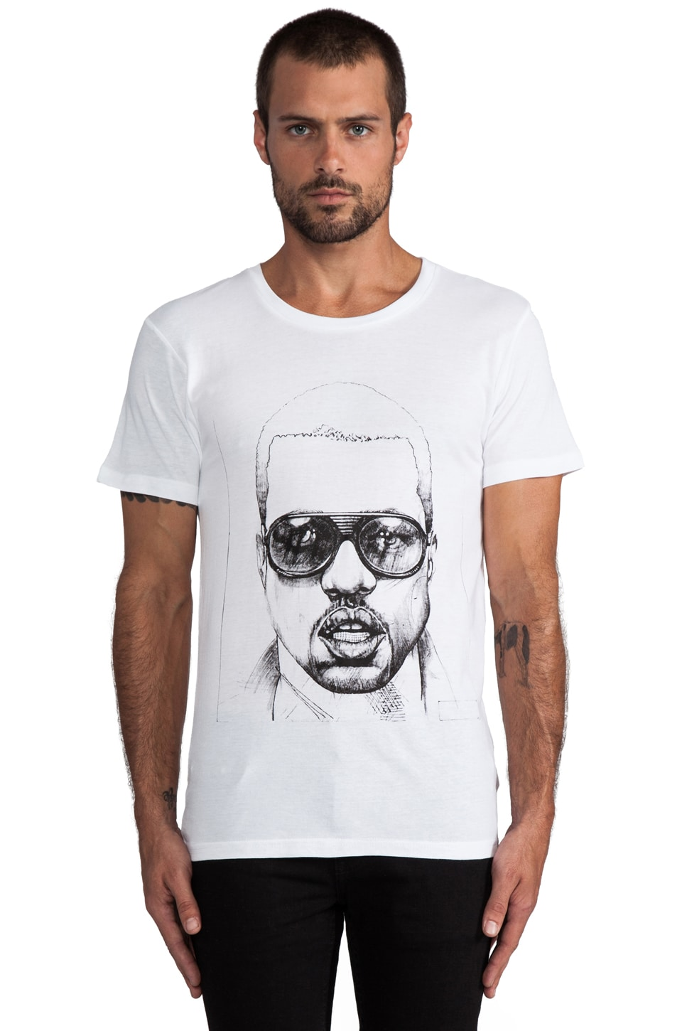 Eleven Paris Kane Graphic Tee in White