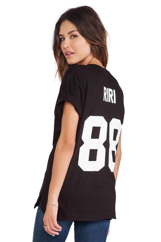 Eleven Paris Riri Back Number Tee in Black