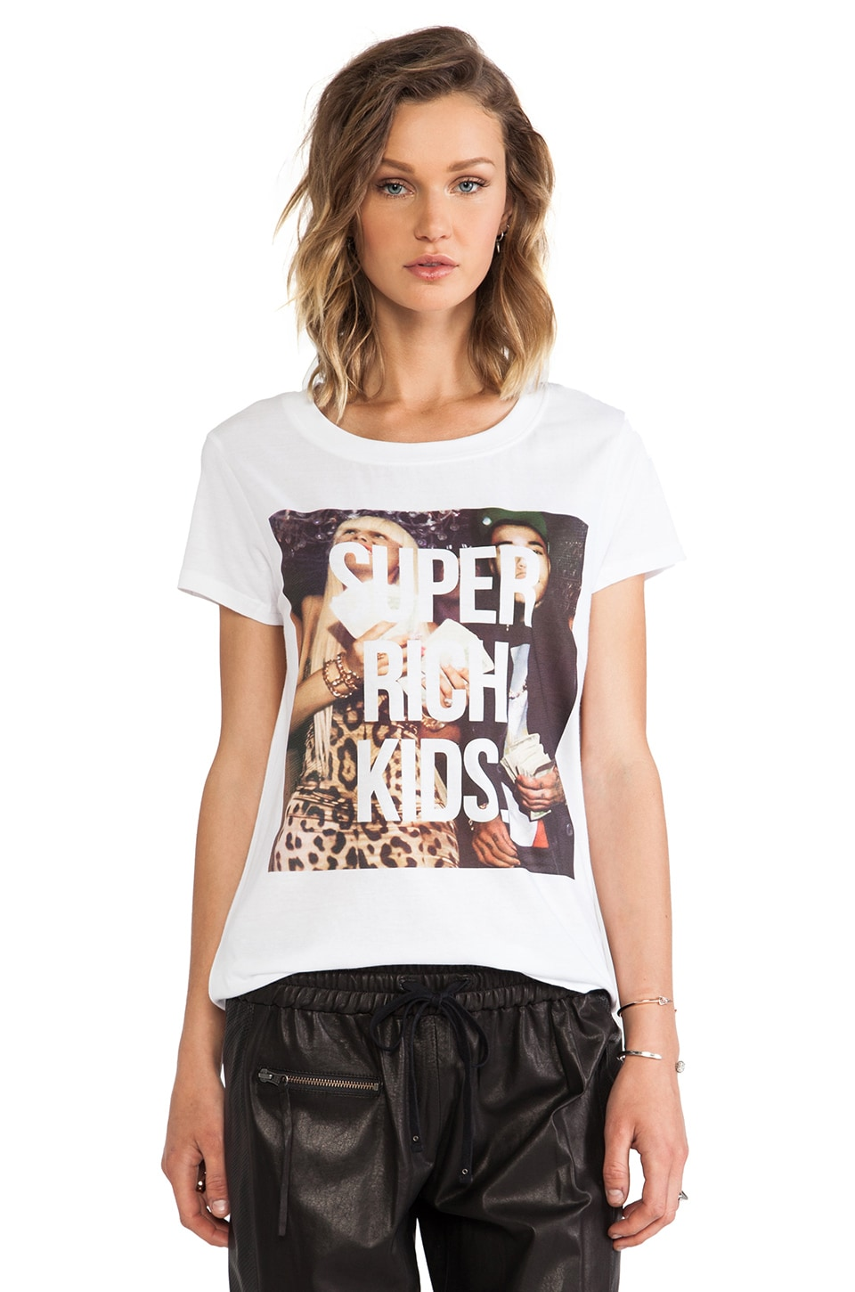 Eleven Paris Super Rich Kids Tee in White