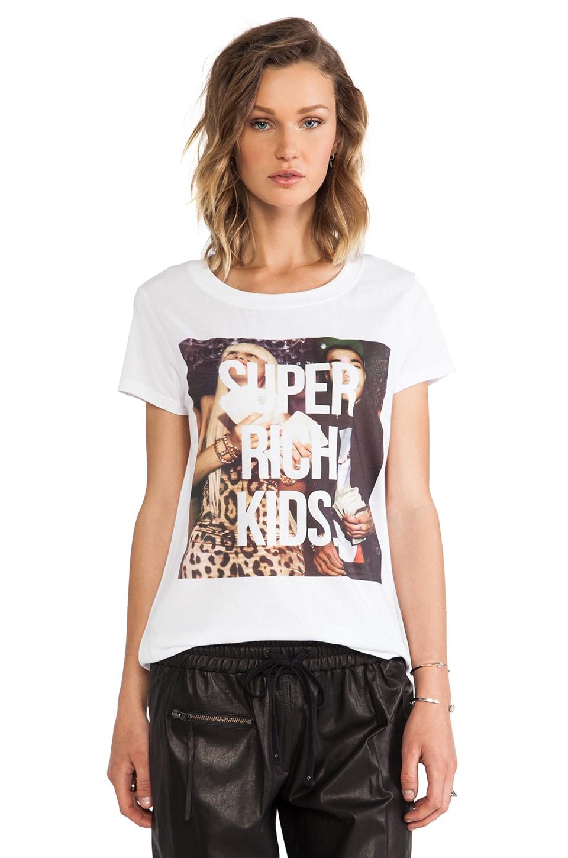 Eleven Paris Super Rich Kids Tee in White