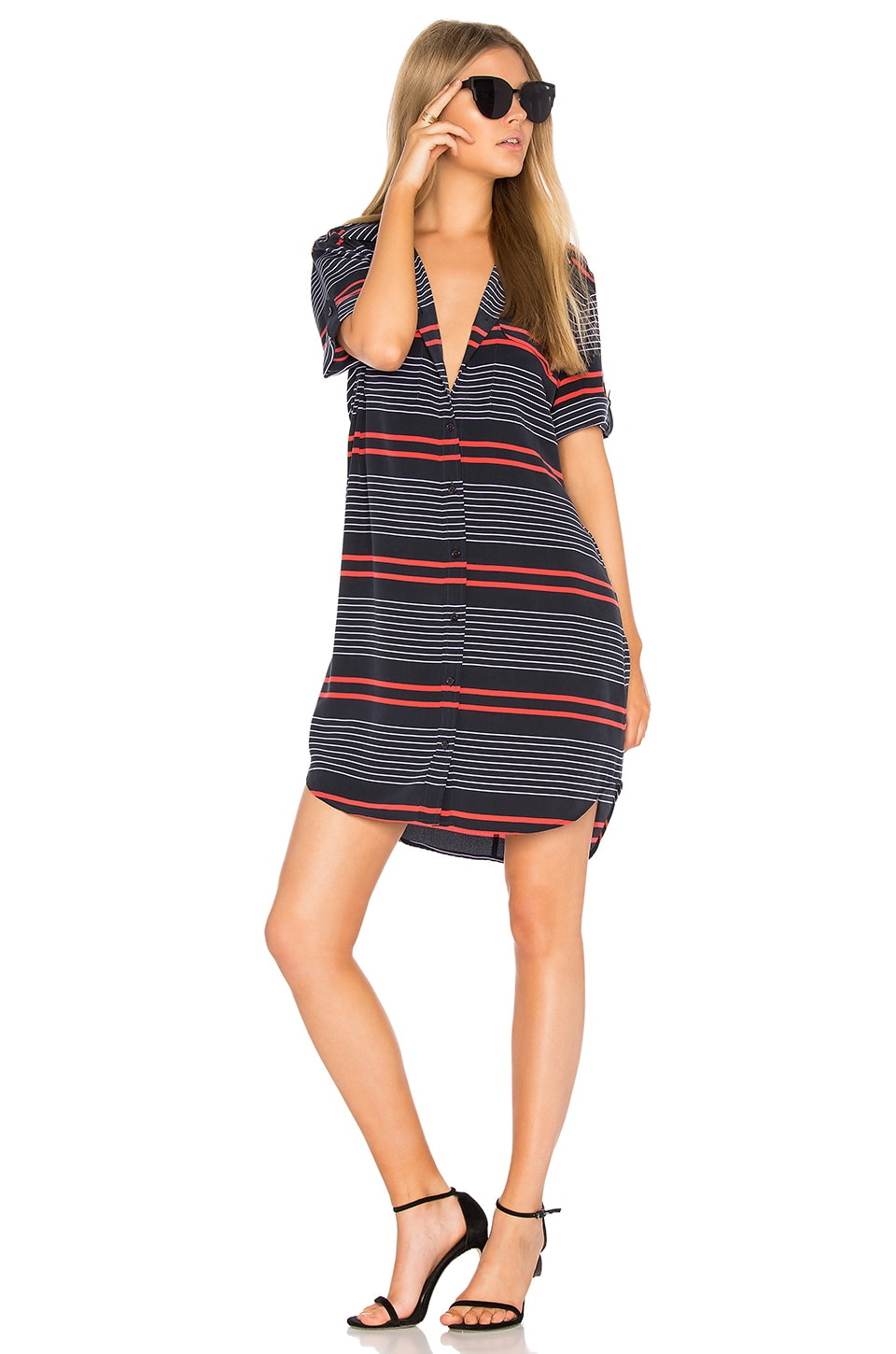 Striped Slim Signature Dress by Equipment