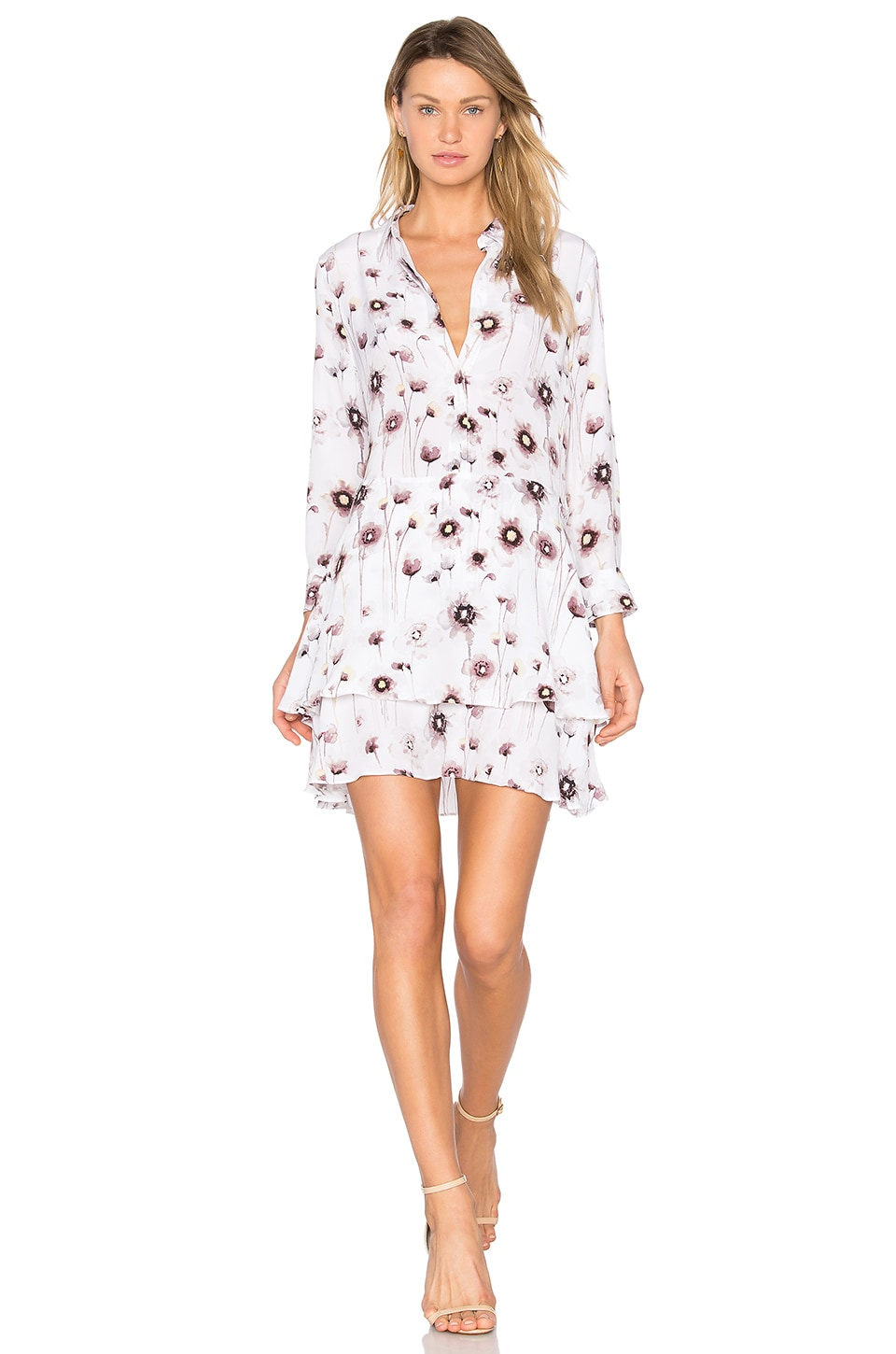 Equipment Natalia Floral Dress in Bright White Multi