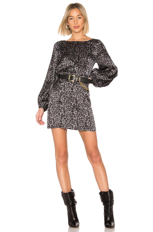 Zipporah Leopard Print Dress in Grey