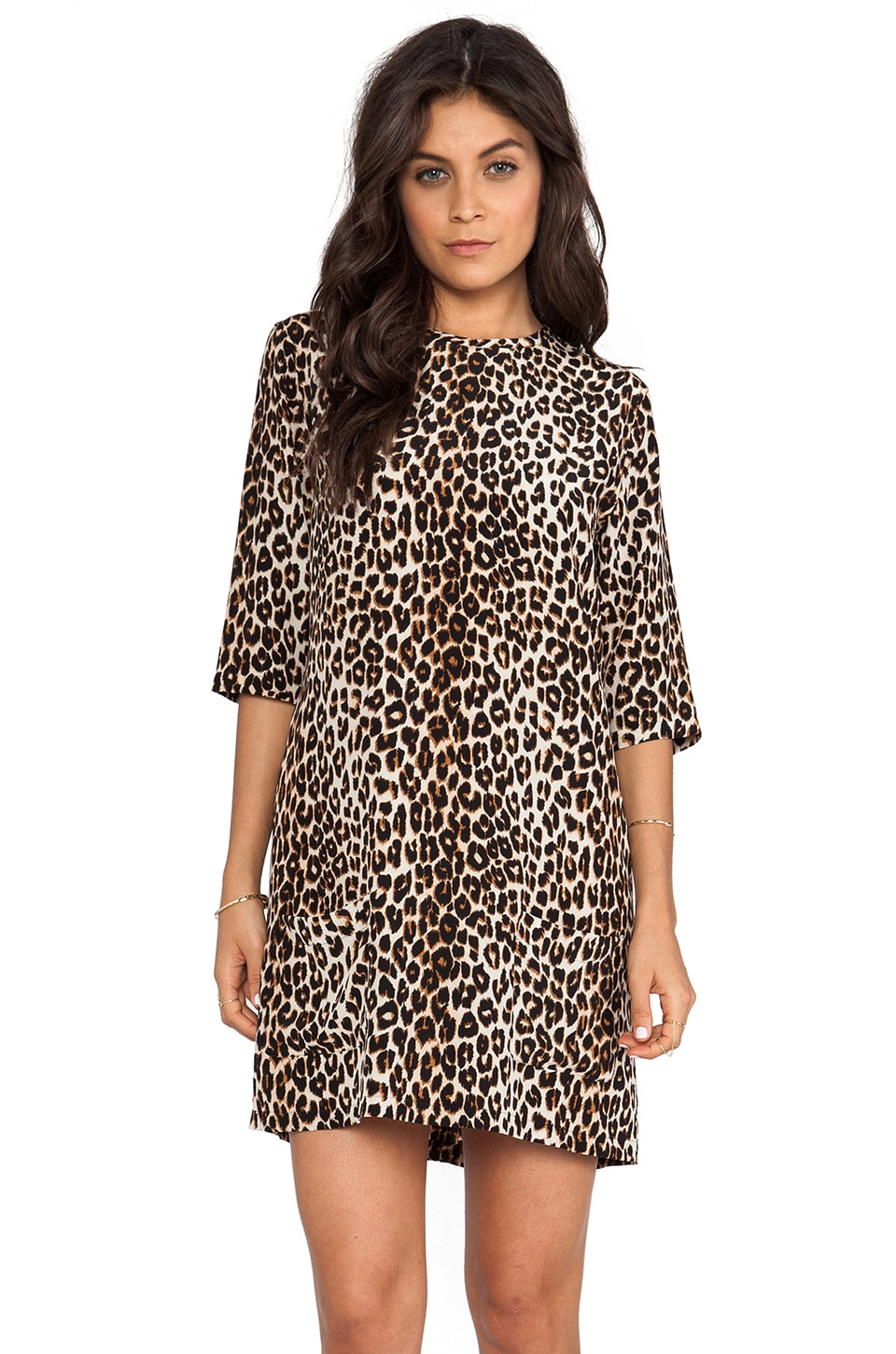 Equipment Aubrey Underground Leopard Dress in Natural