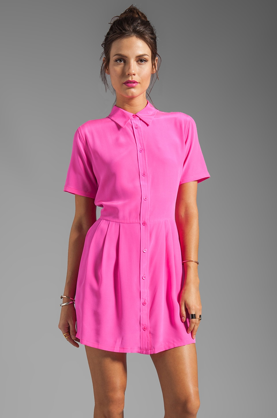 Equipment Naomi Dress in Magenta