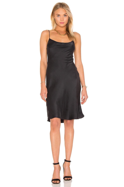 Equipment Kate Moss for Equipment Jessa Slip Dress in True Black
