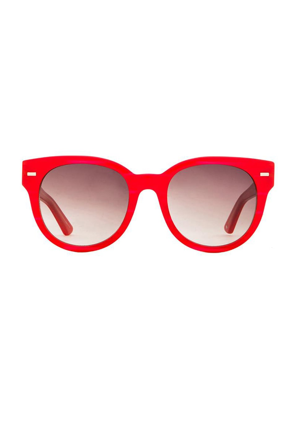 Equipment The Lana Sunglasses in Brown Gradient & Semi-Matte Light Gold & Red