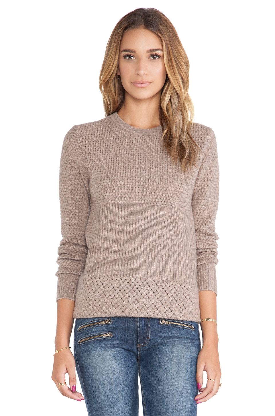Equipment Rei Crewneck Sweater in Heather Brown
