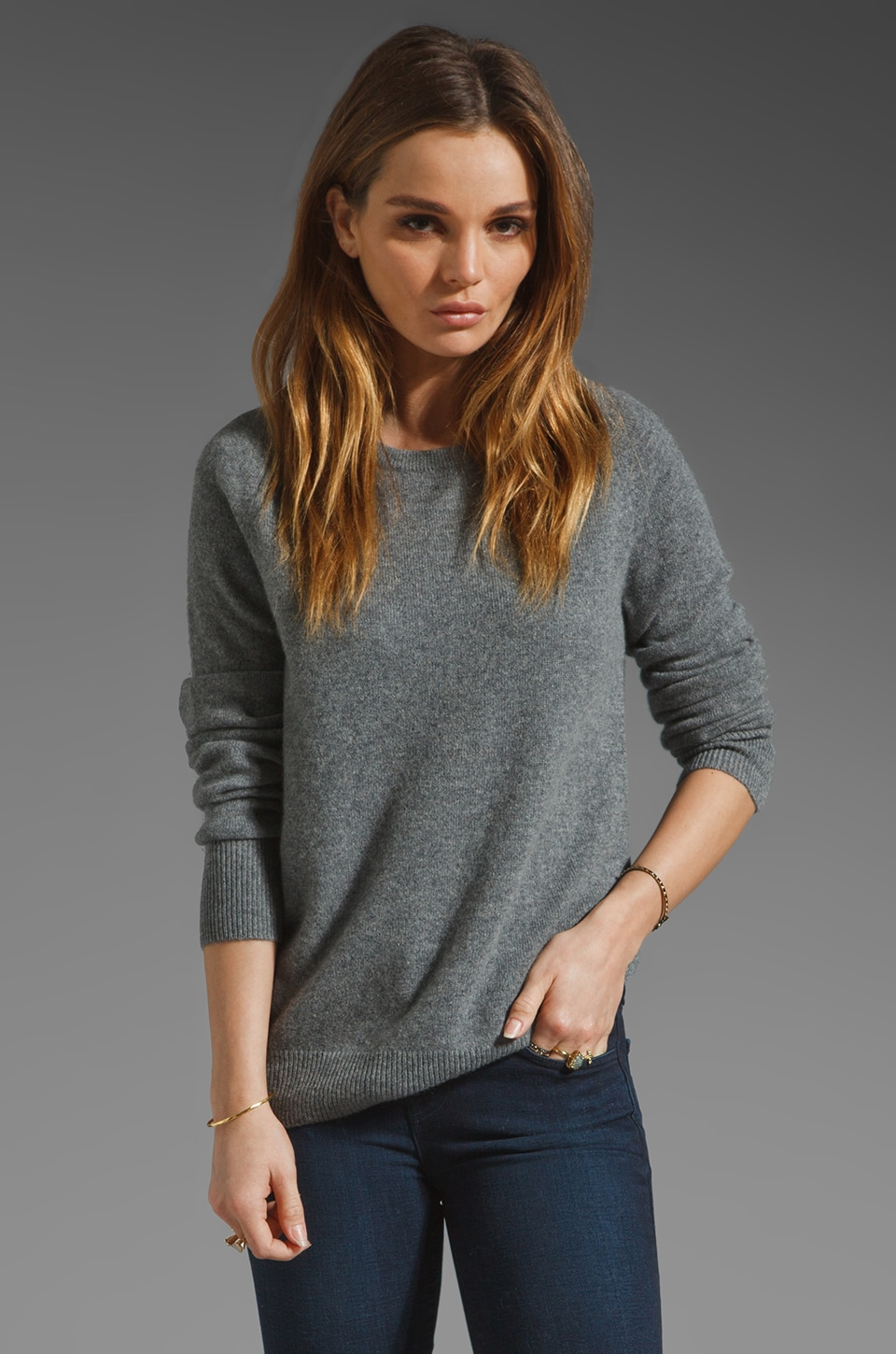 Equipment Sloane Crew Sweater in Heather Grey