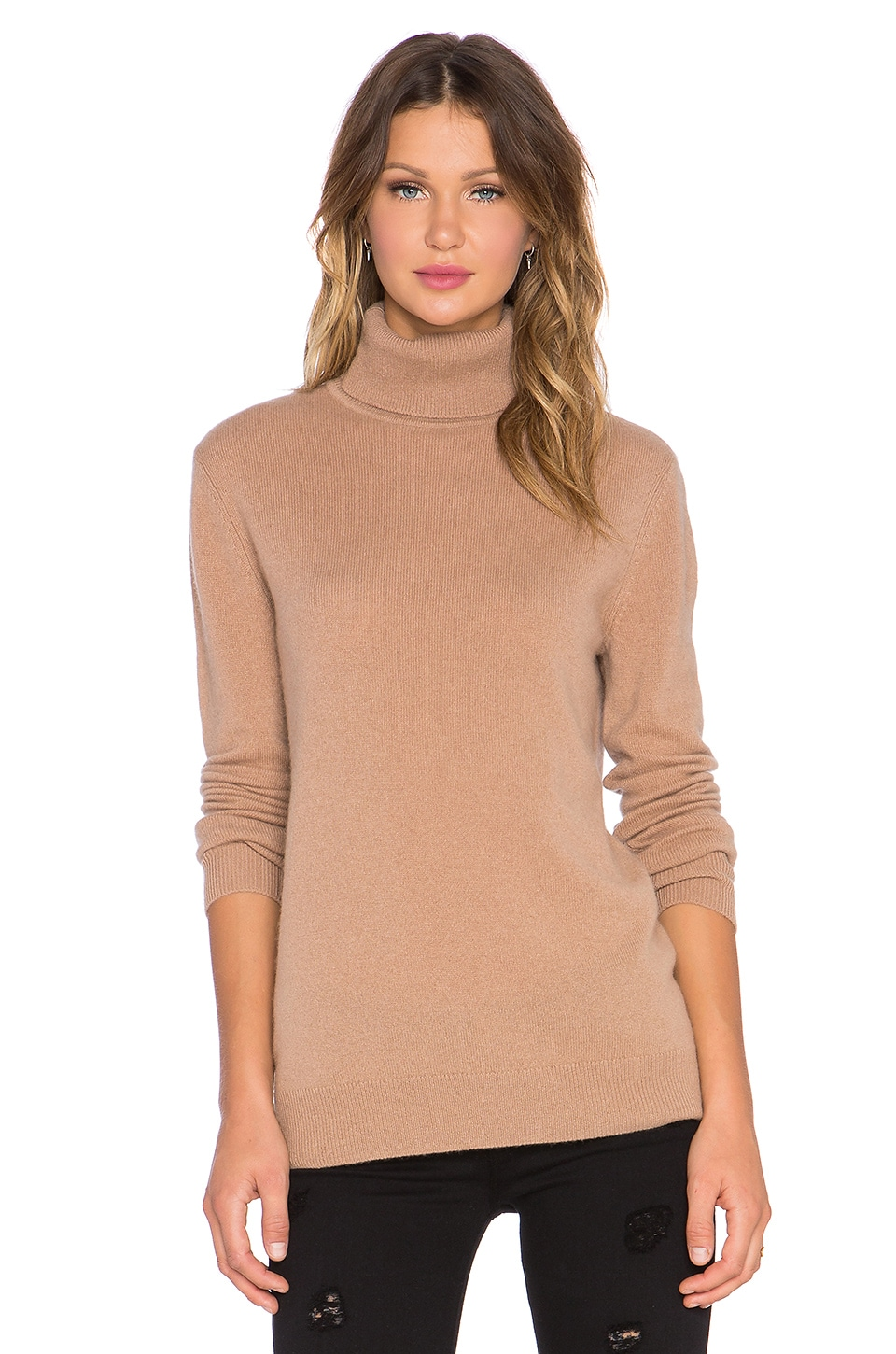 Equipment Oscar Turtleneck Cashmere Sweater in Camel | REVOLVE