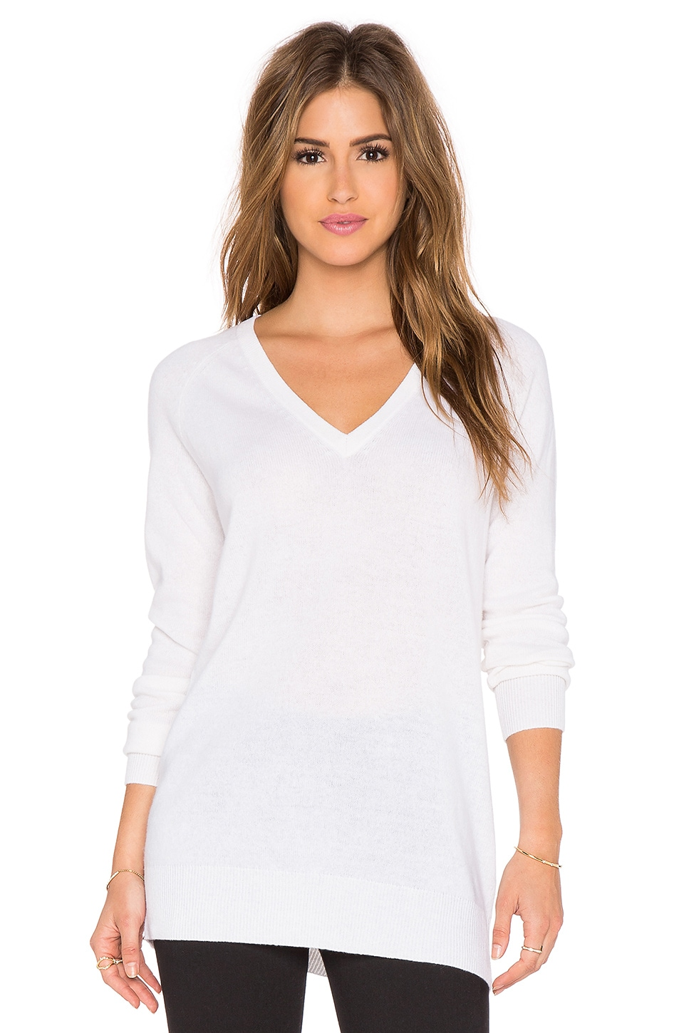 Equipment V Neck Sweater in Ivory