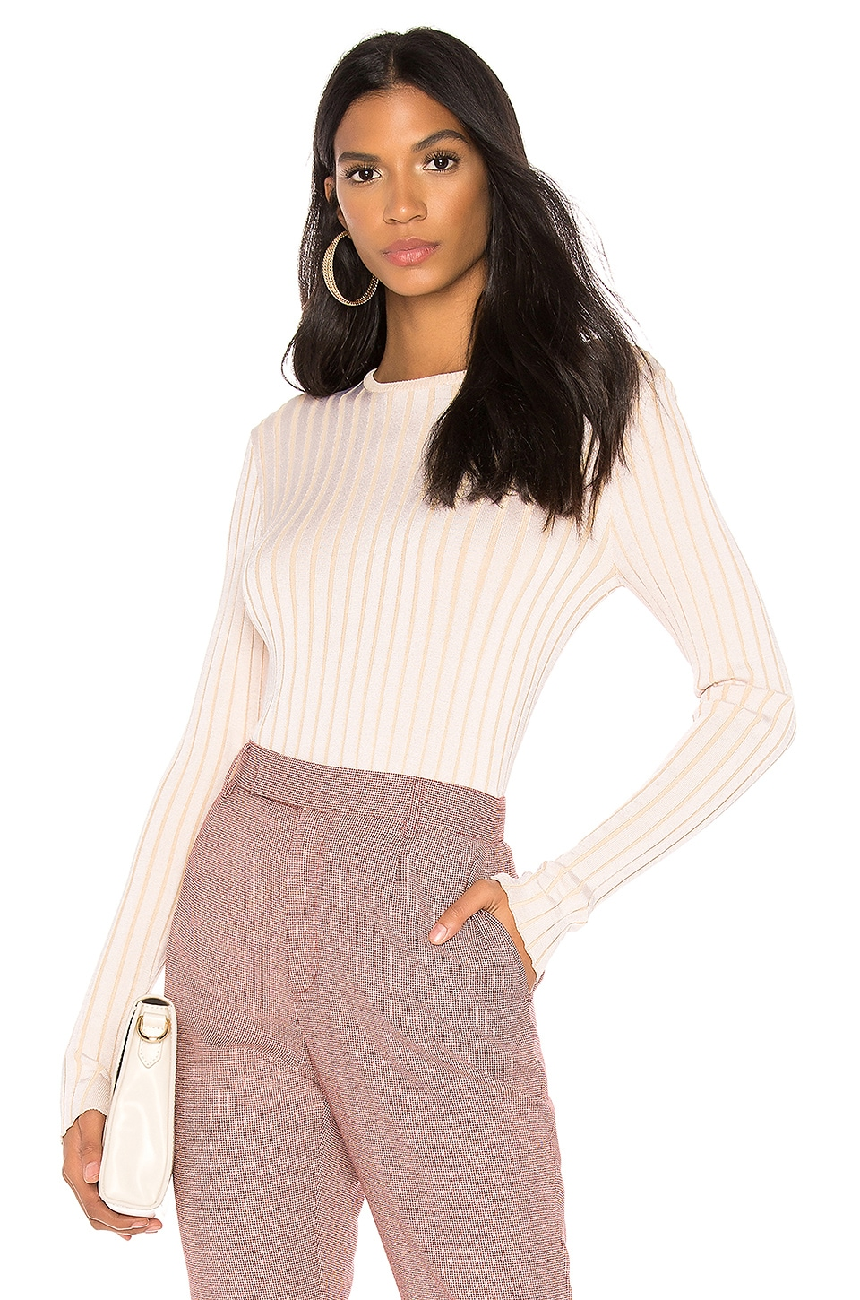 Equipment Saviny Sweater in Natural White & Beige