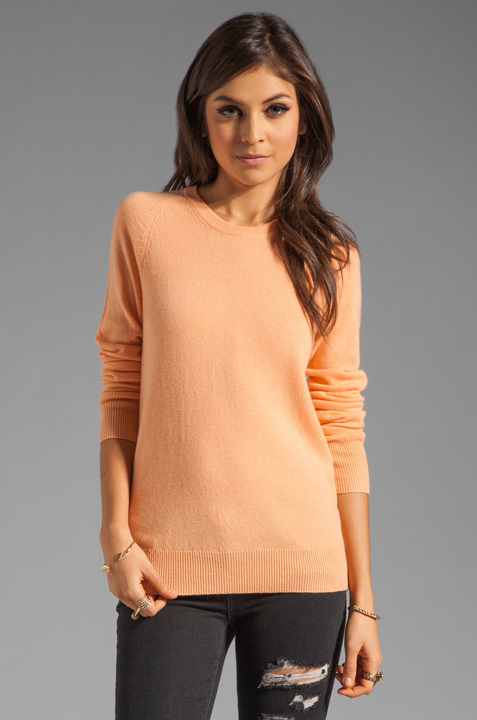 Equipment Sloan Crew Neck Sweater in Canteloupe