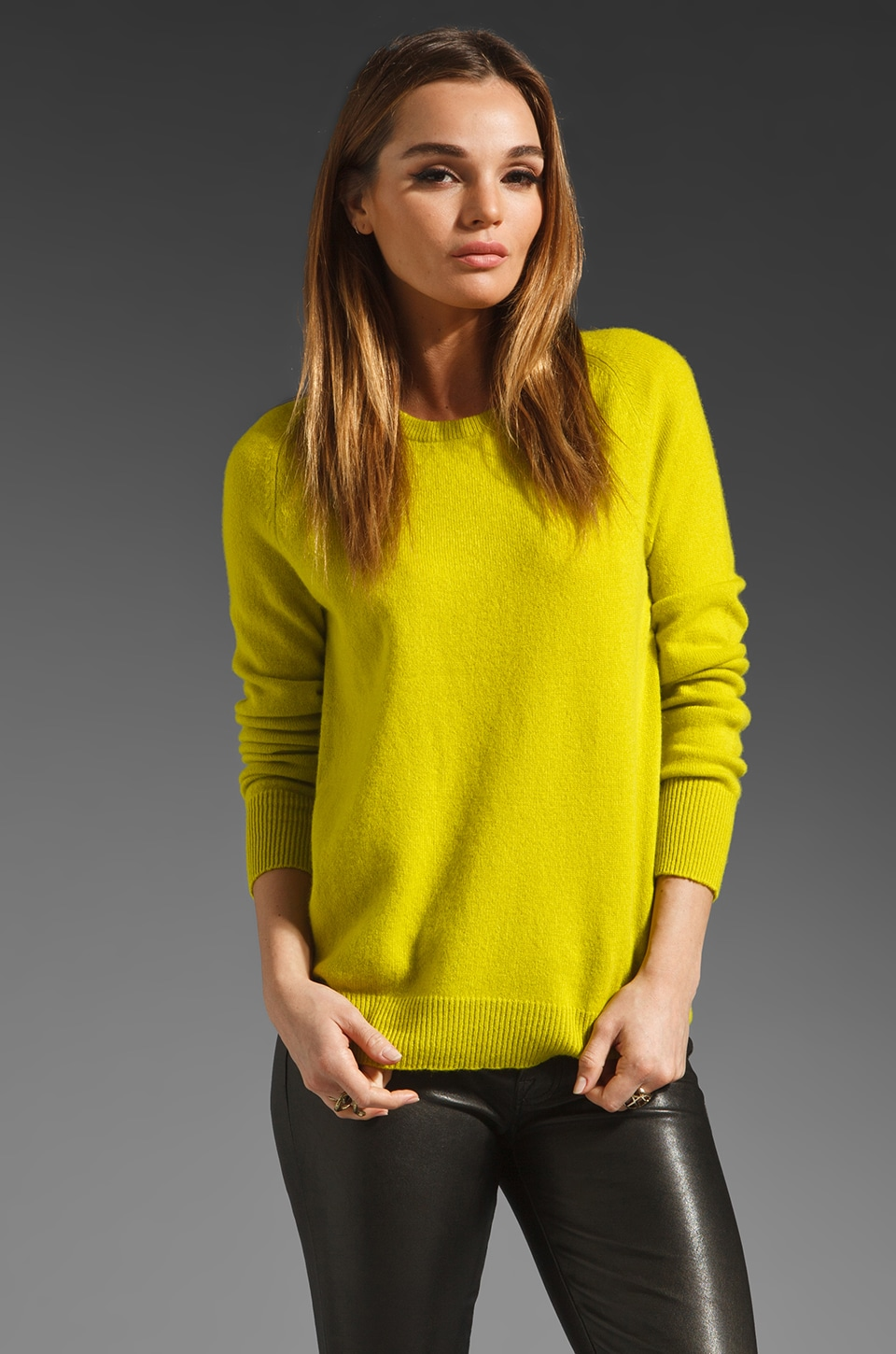 Equipment Sloane Crew Sweater in in Citronelle