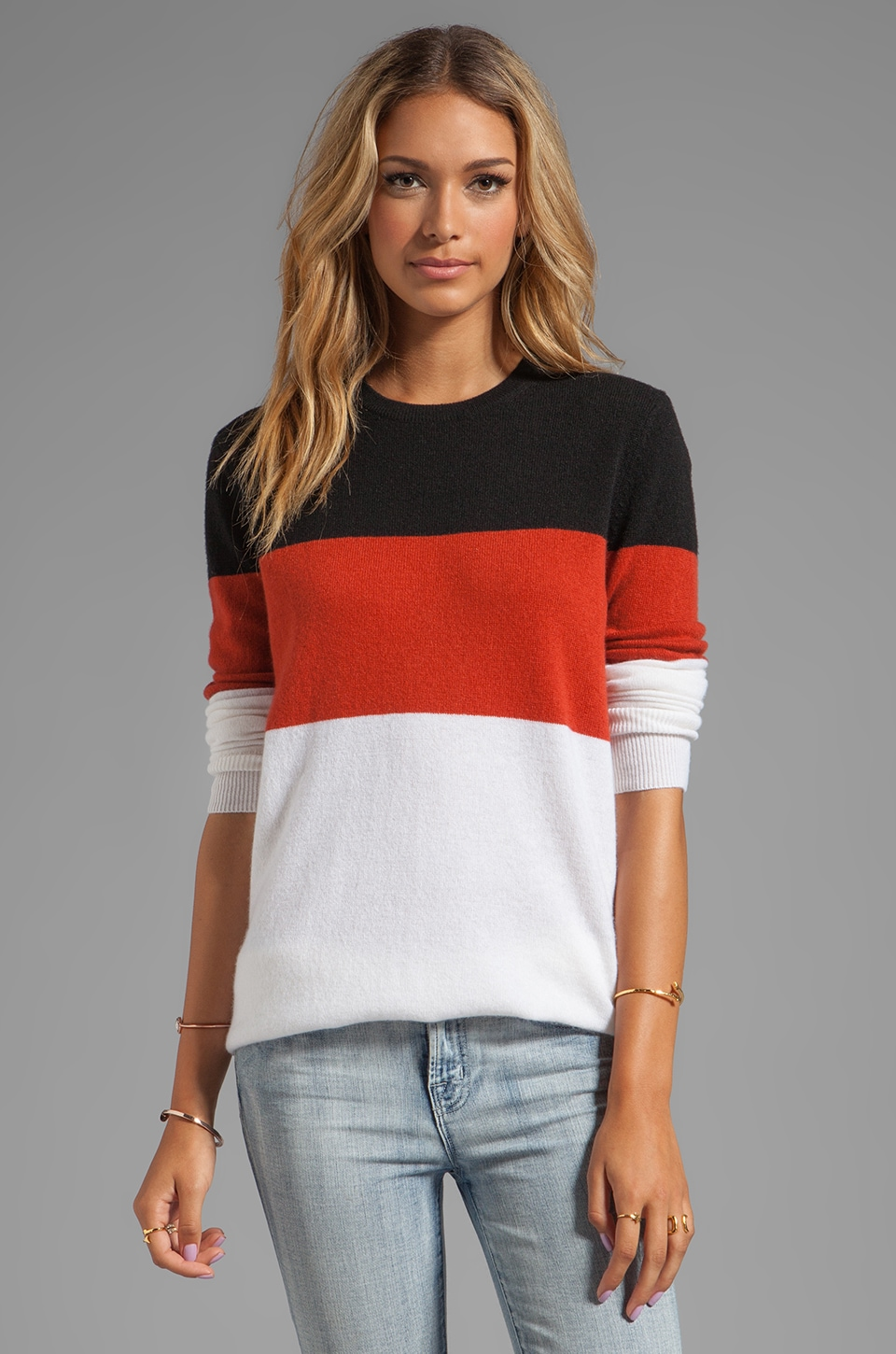 Equipment Rei Crew Neck Sweater in Ivory Multi