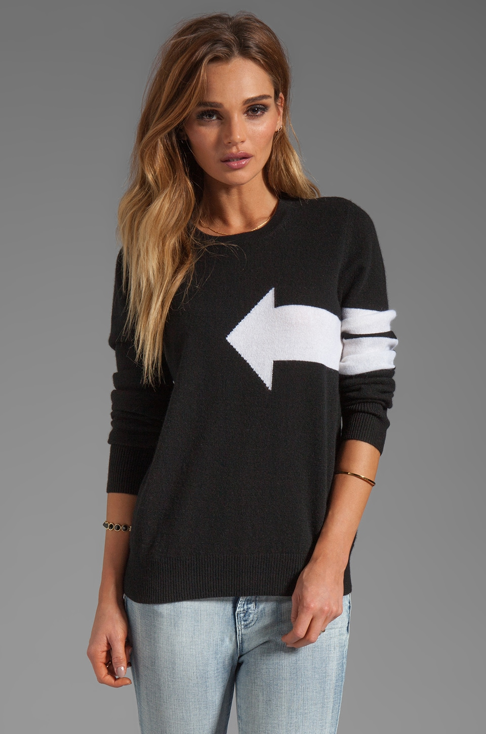 Equipment Shane Crew Neck Sweater in Black