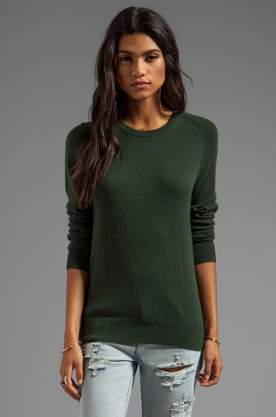 Equipment Sloane Crew Neck Sweater in Dark Army