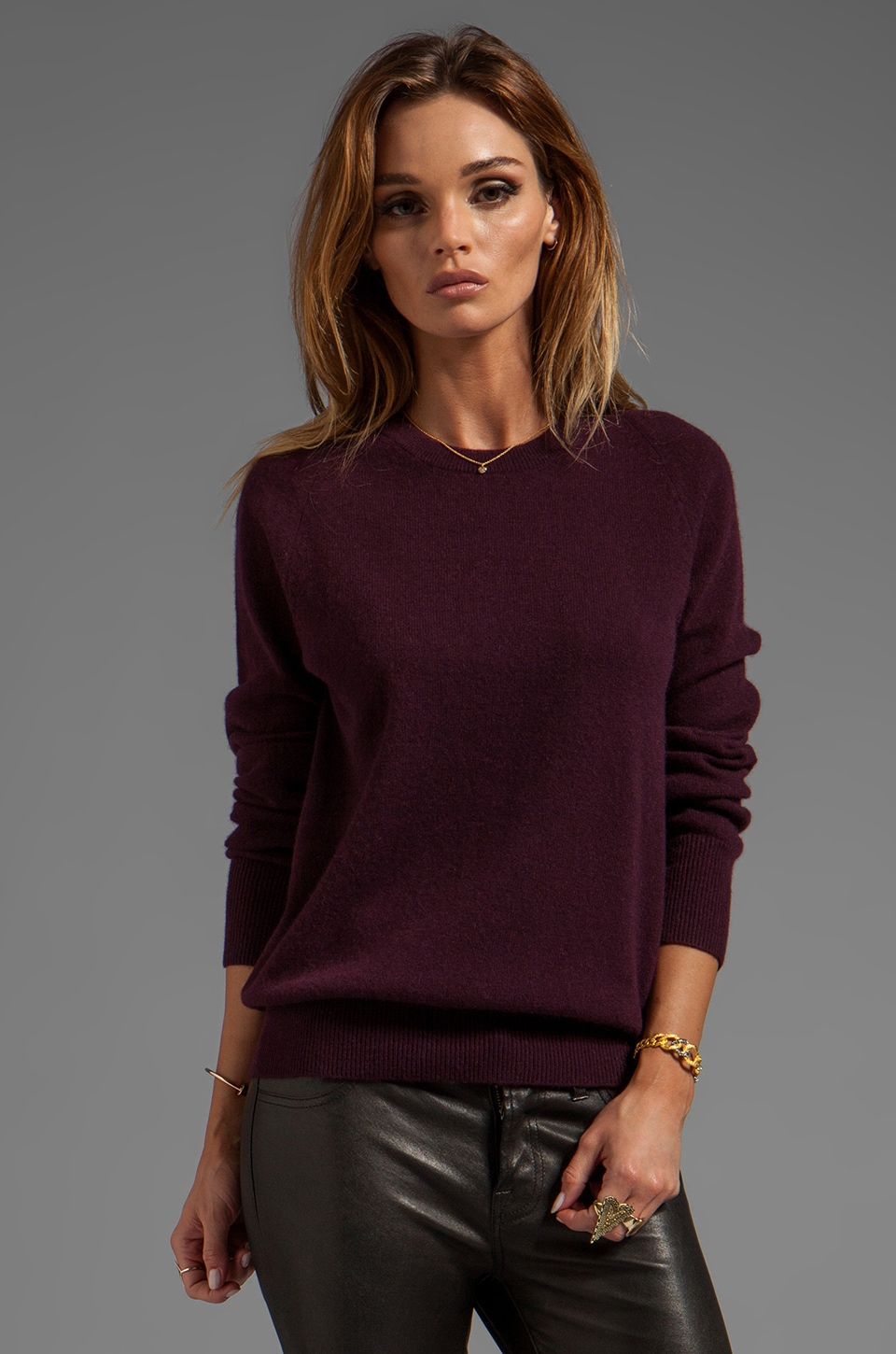 Equipment Sloane Crew Neck Sweater in Cabernet