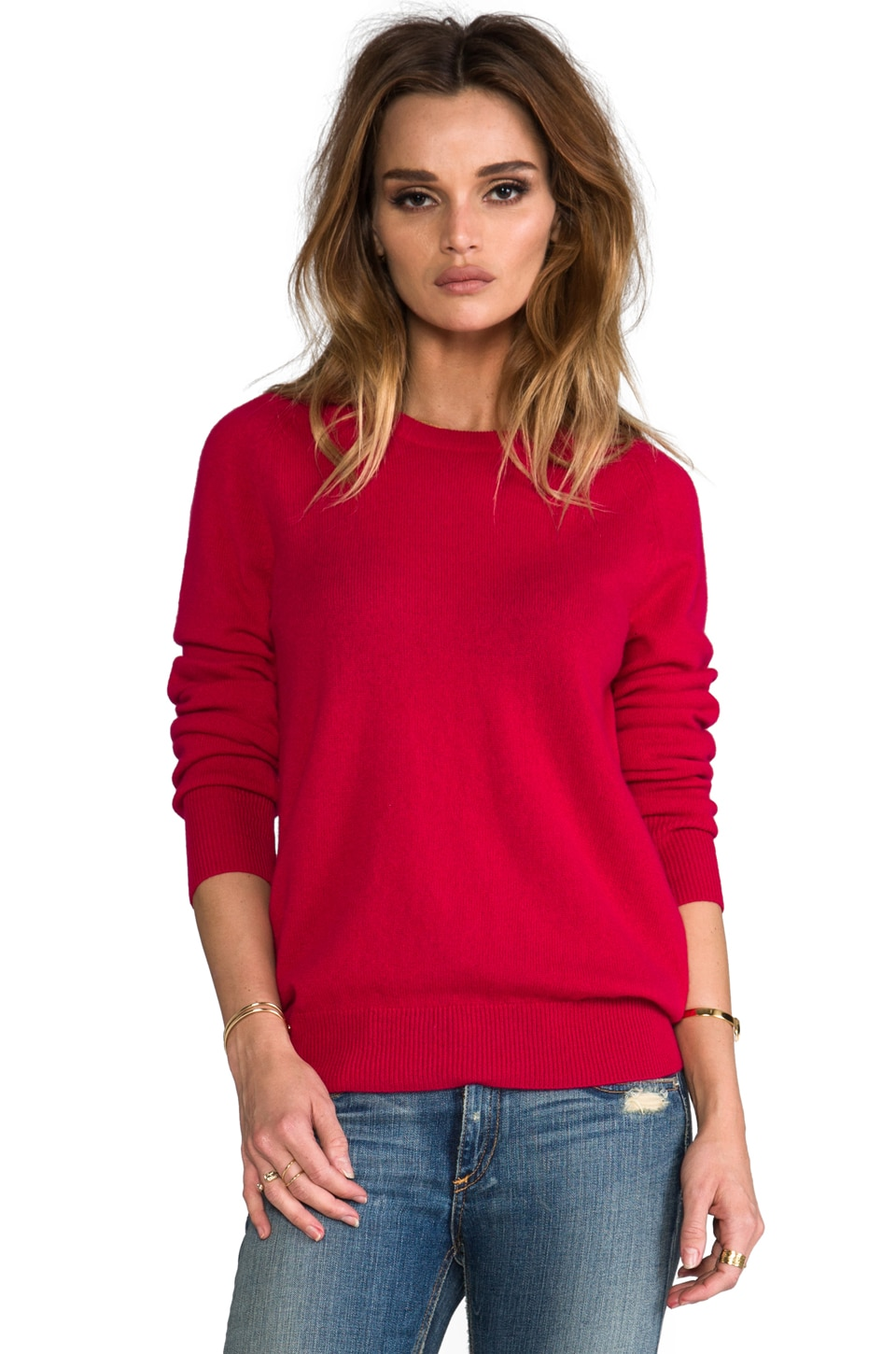 Equipment Sloan Crew Neck Sweater in Persian Red