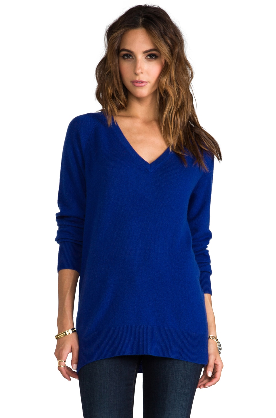 Equipment Asher V-Neck Sweater in Royal Blue