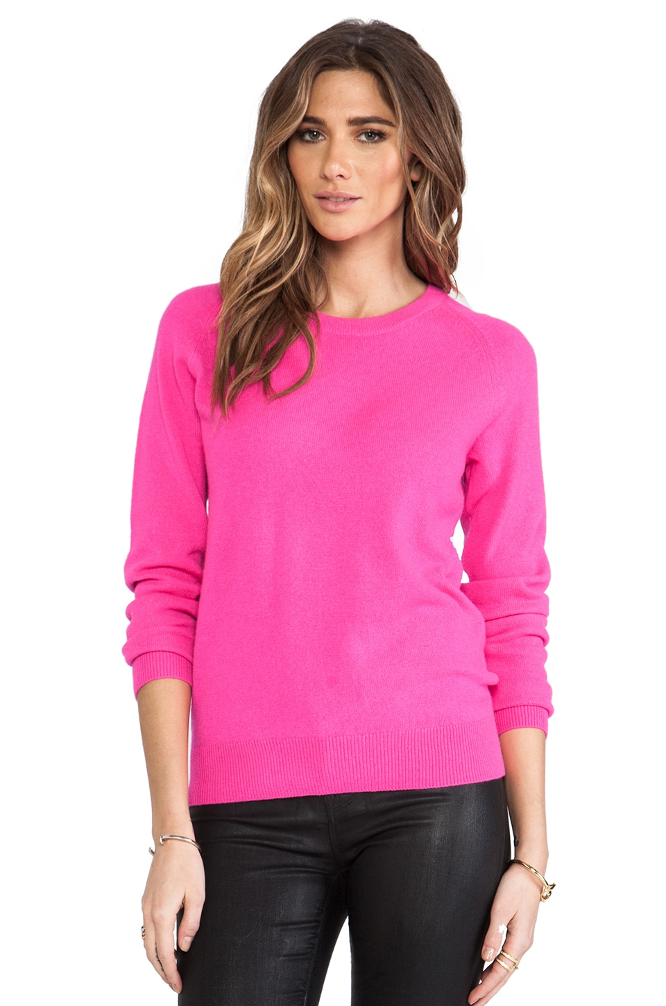 Equipment Sloan Crew Neck in Magenta