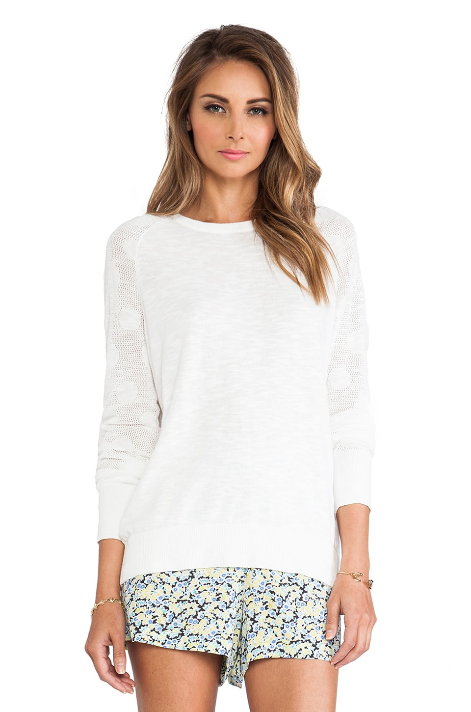Equipment Sloane Crew Neck Sweater in Ivory