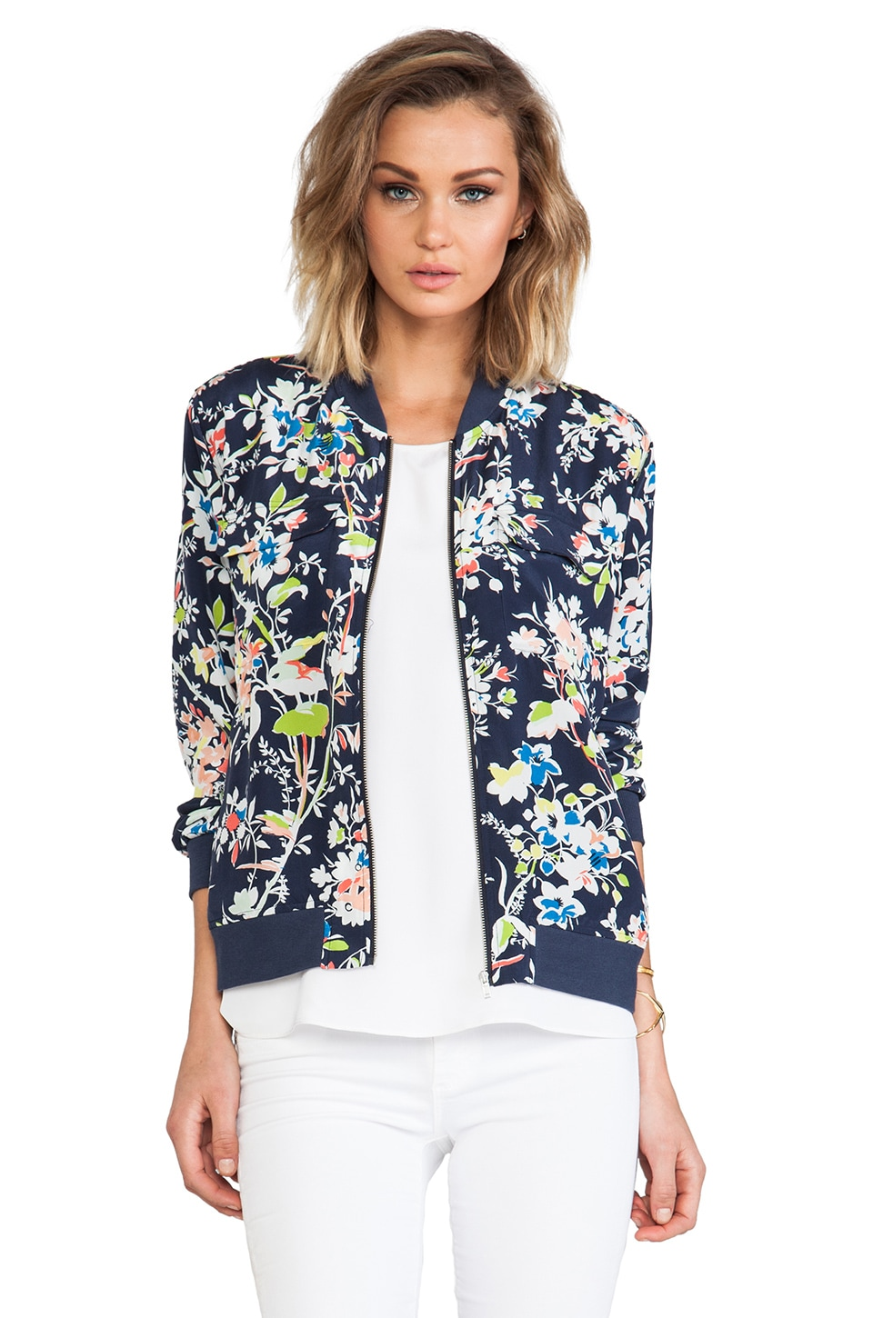 Equipment Floral Demonstration Abbot Bomber in Peacoat