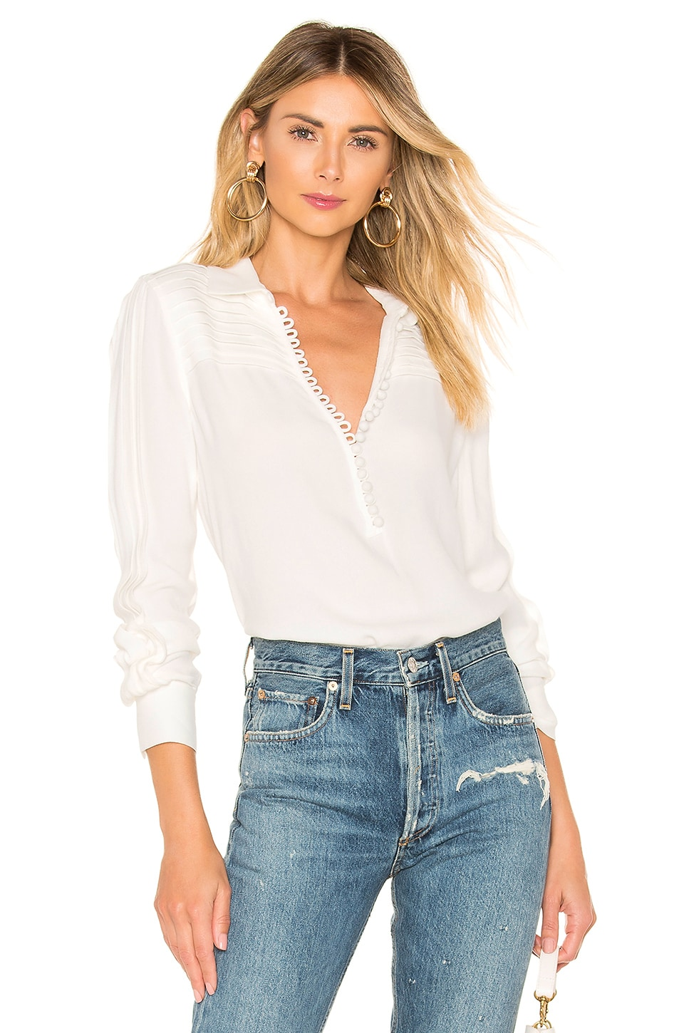 Equipment Bina Blouse in White