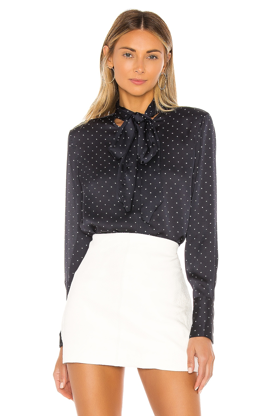Equipment Luis Blouse in Eclipse & Bright White