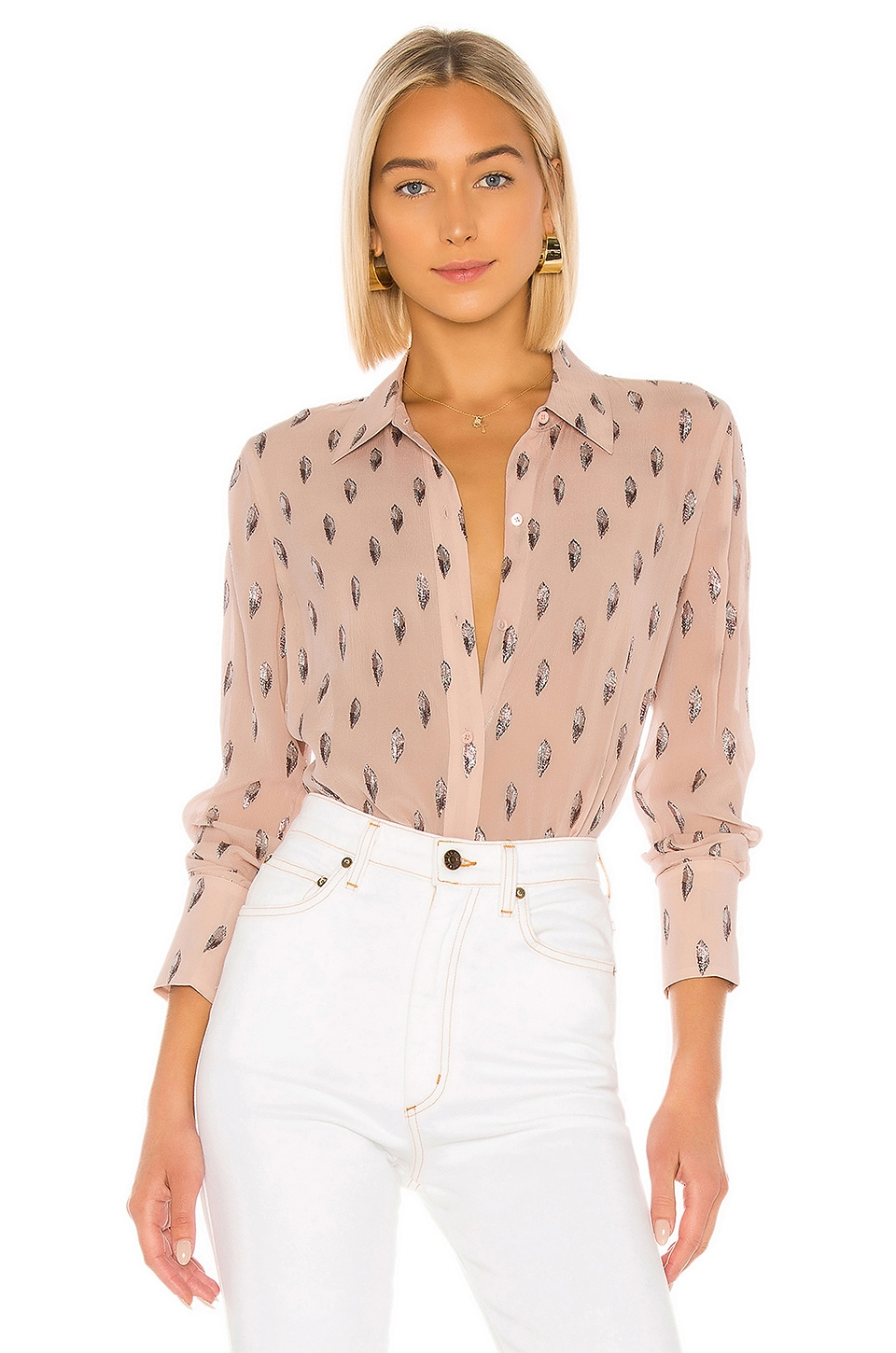 Equipment Sedienne Blouse in Misty Rose